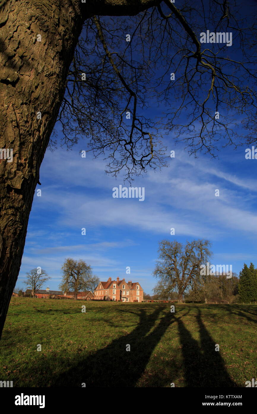 Footpaths around Wooton St Lawrence Hampshire - Stock Image