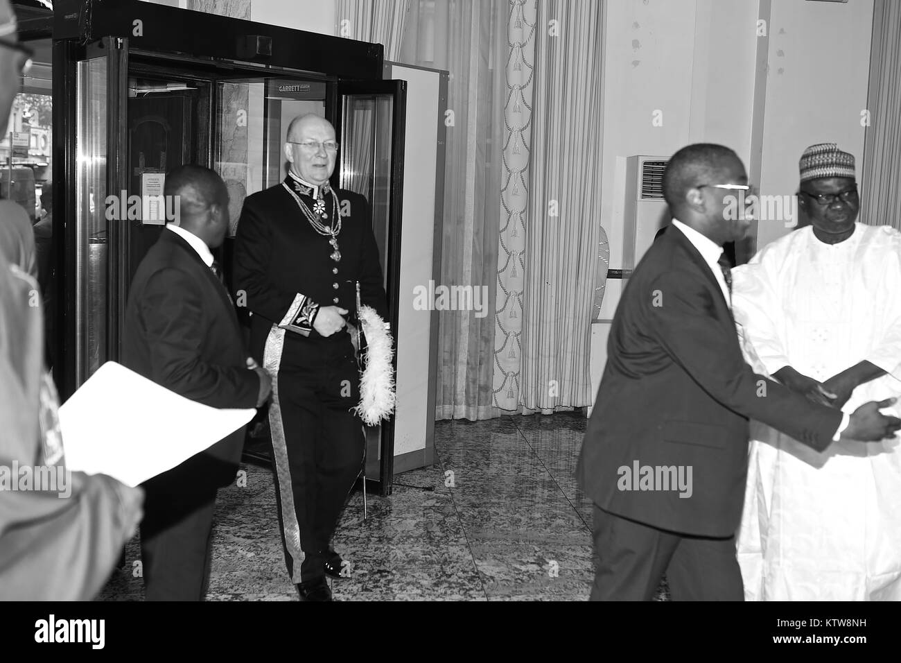 Nigerian High Commissioner presents his credentials to  the Queen in Buckingham Palace 2017 - Stock Image