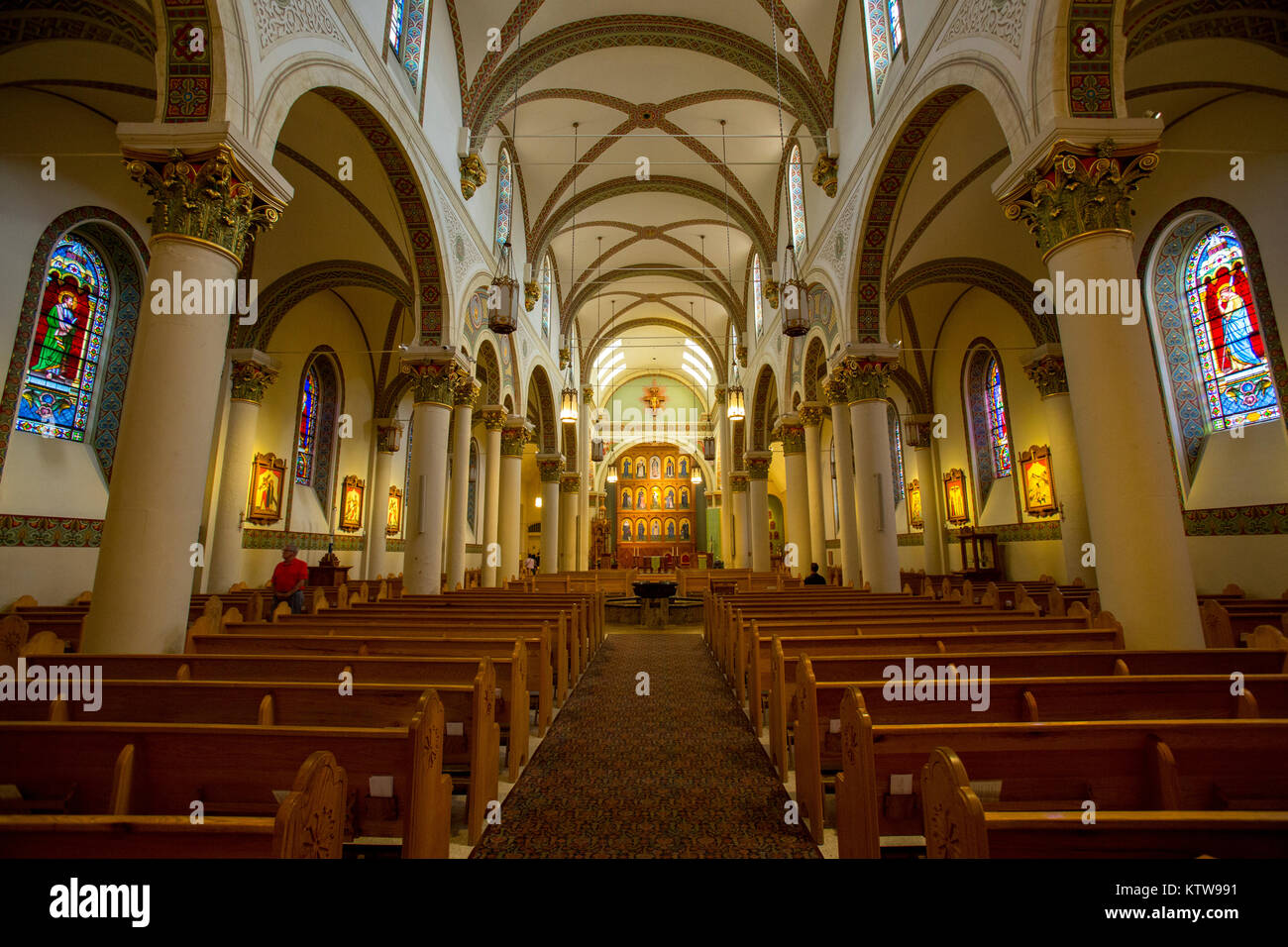 Cathedral Basilica of St. Francis of Assisi, Santa Fe, New Mexico - Stock Image