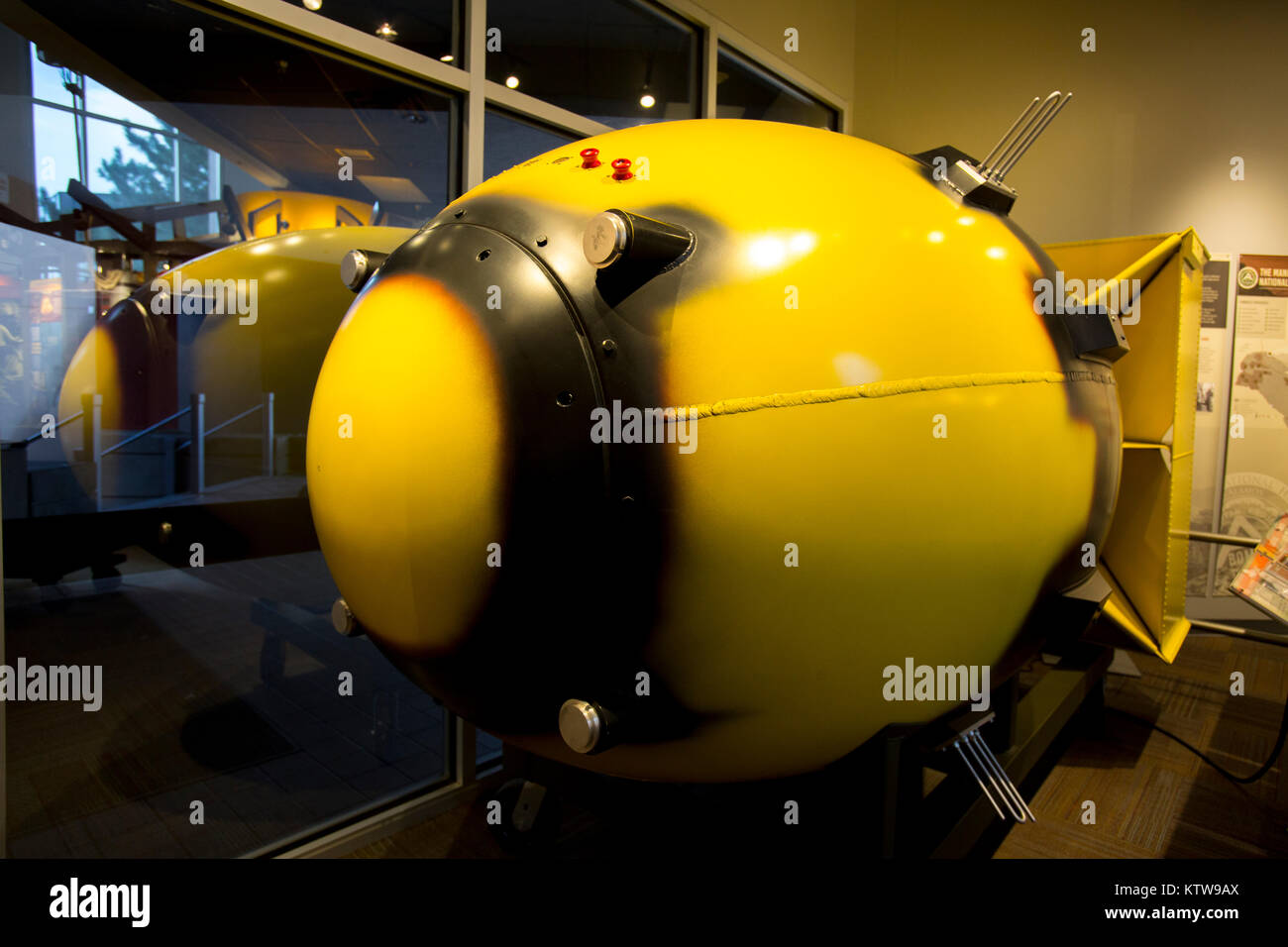 Fat Man and Little Boy atomic bombs - Stock Image