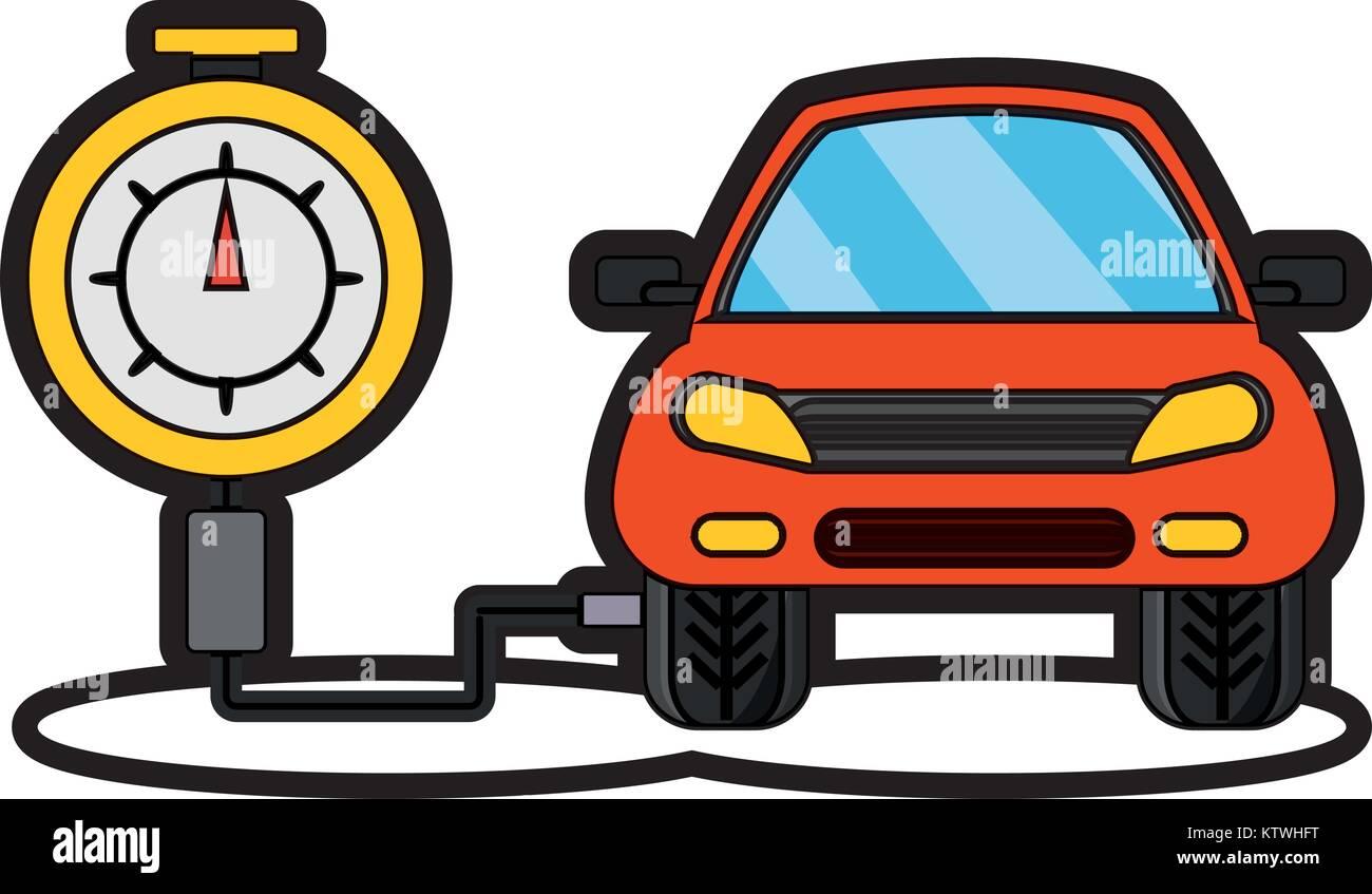 tire gauge icon - Stock Vector