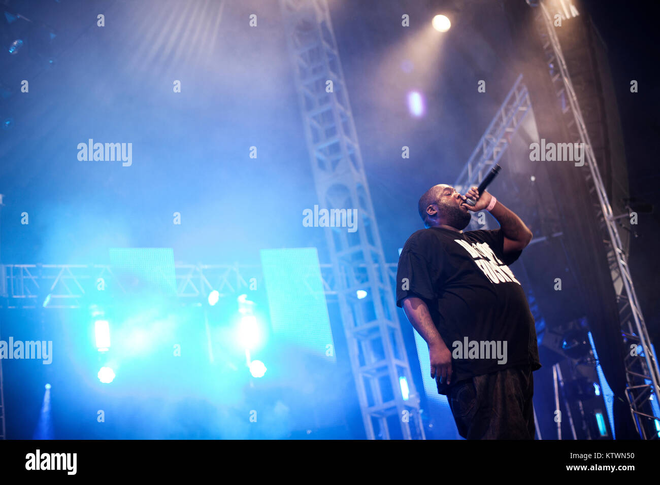 The American rapper Killer Mike is a big man and a well-respected poet in American hip hop. Denmark 2013. - Stock Image