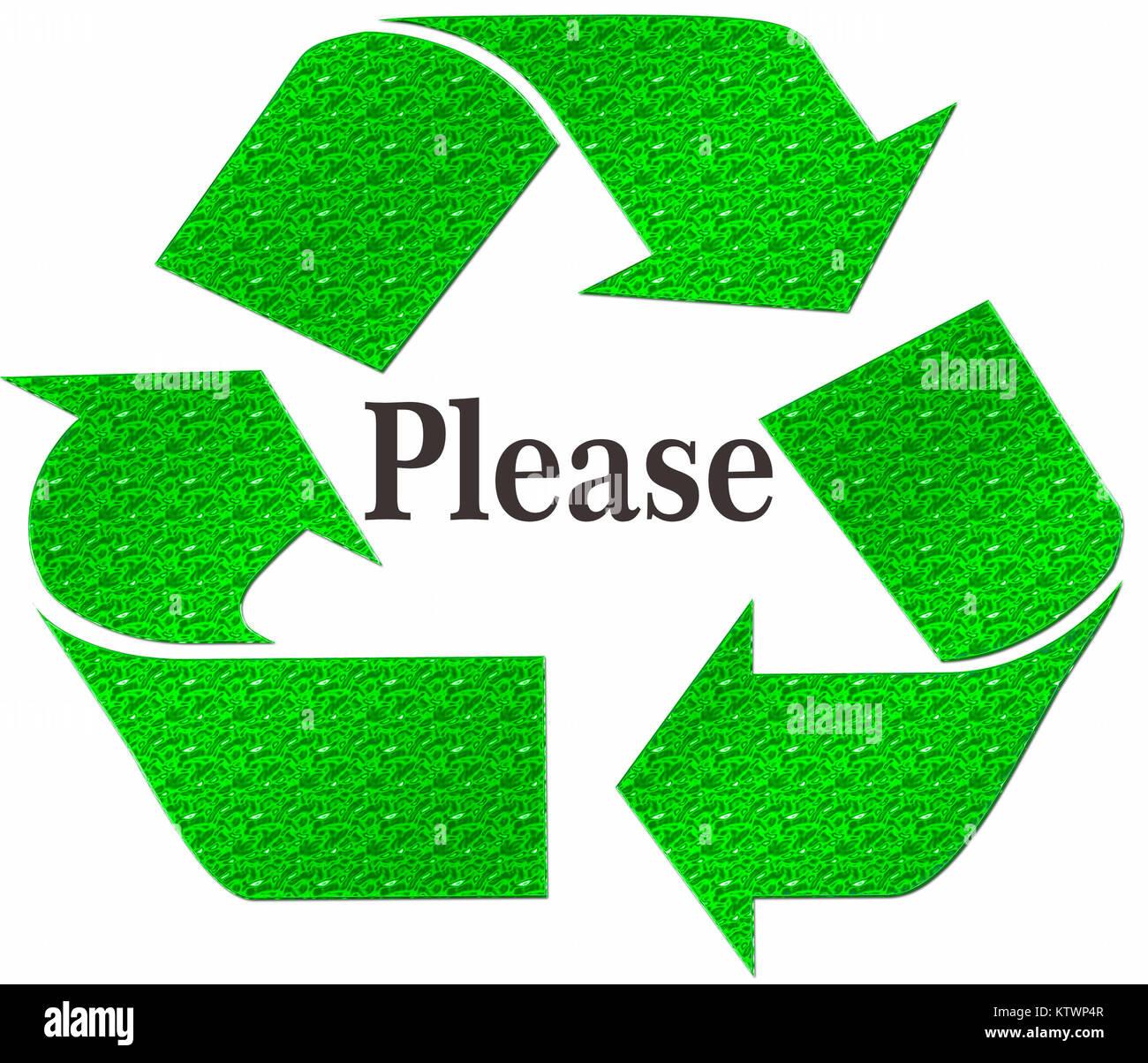 Reduce reuse recycle stock photos reduce reuse recycle stock please recycle symbol isolated on a white background stock image buycottarizona Choice Image