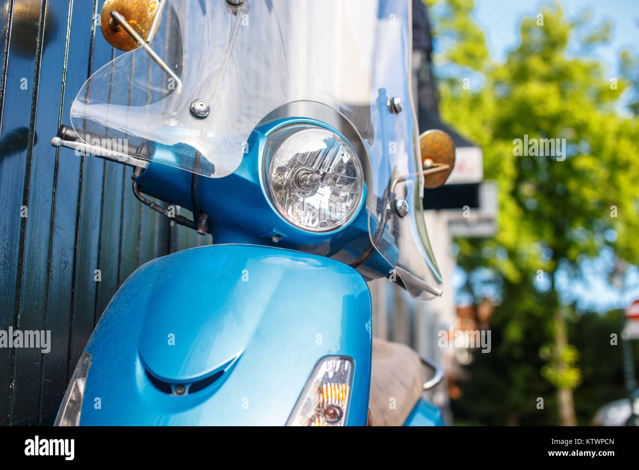 Modern scooted on the street. - Stock Image