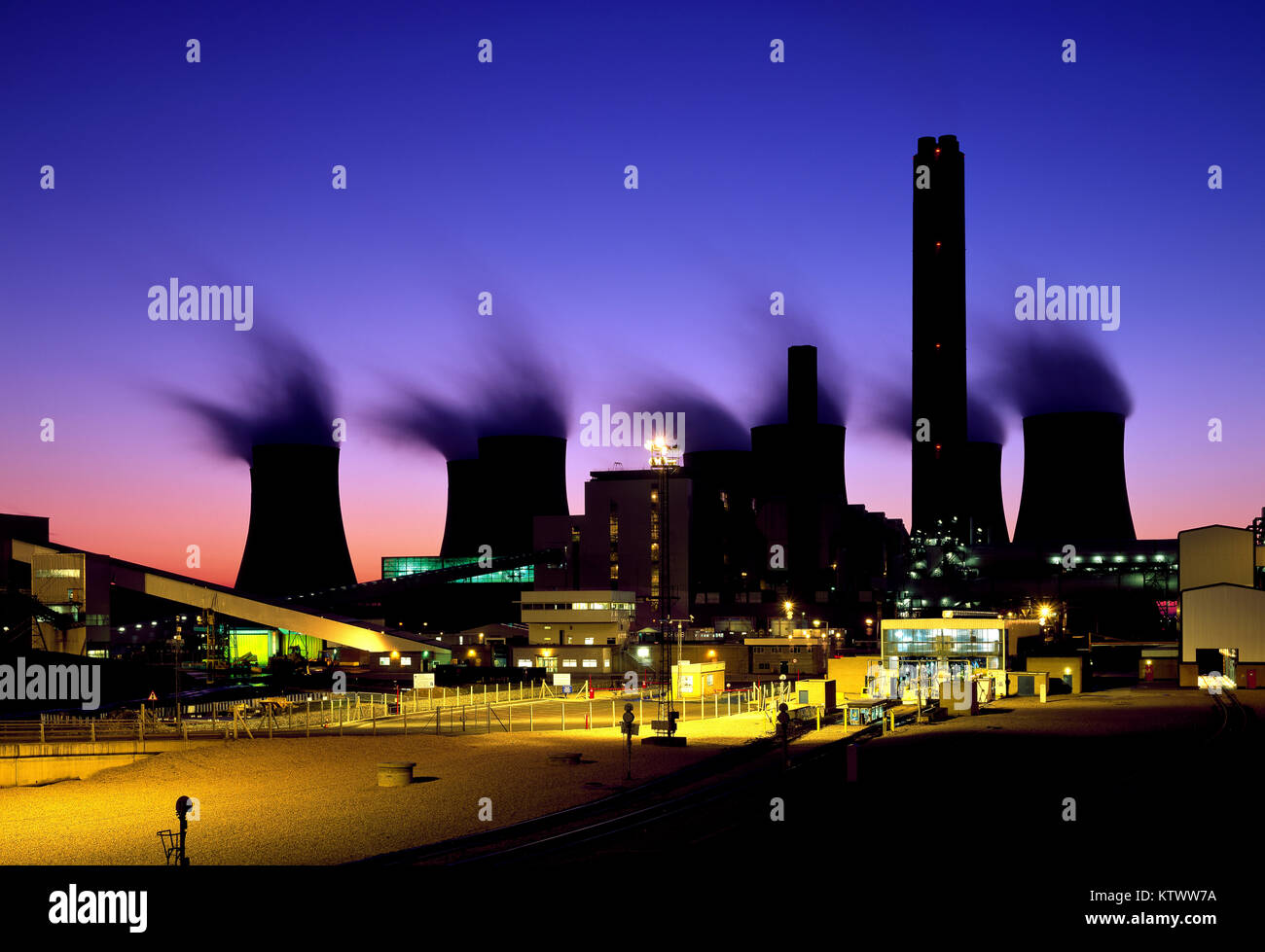 Ratcliffe on Soar coal fired Power Station, Nottinghamshire, England, UK - Stock Image
