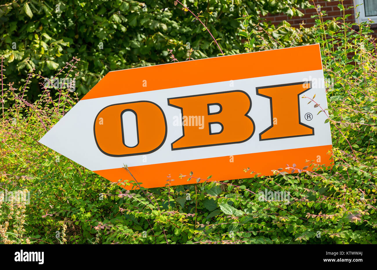 Obi market sign on a shield obi is the largest hardware and stock obi is the largest hardware and do it yourself retailer in germany solutioingenieria Choice Image