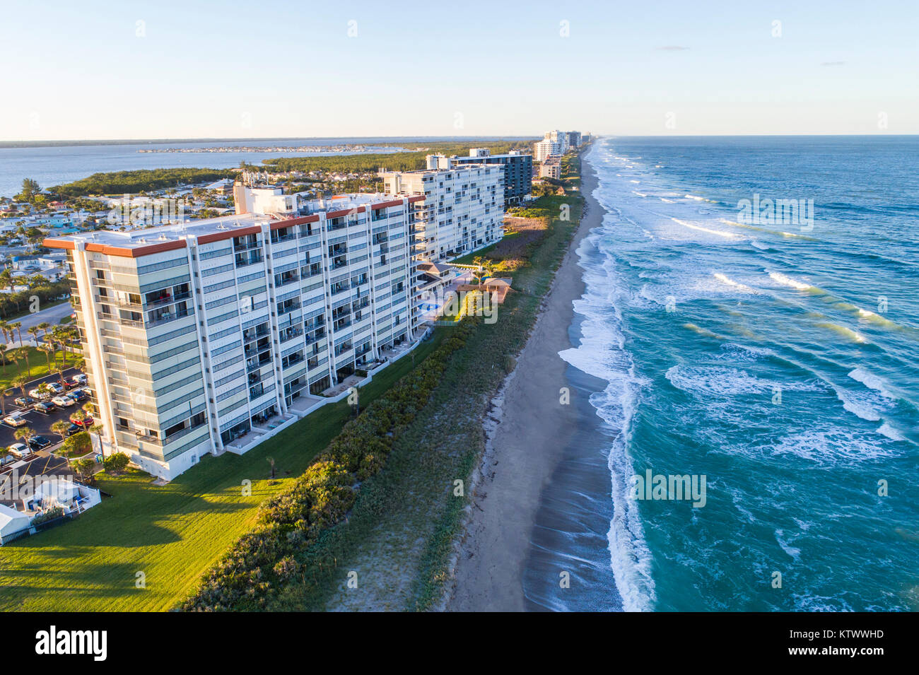 Hutchinson Island Florida Jensen Beach barrier island Atlantic Ocean ...