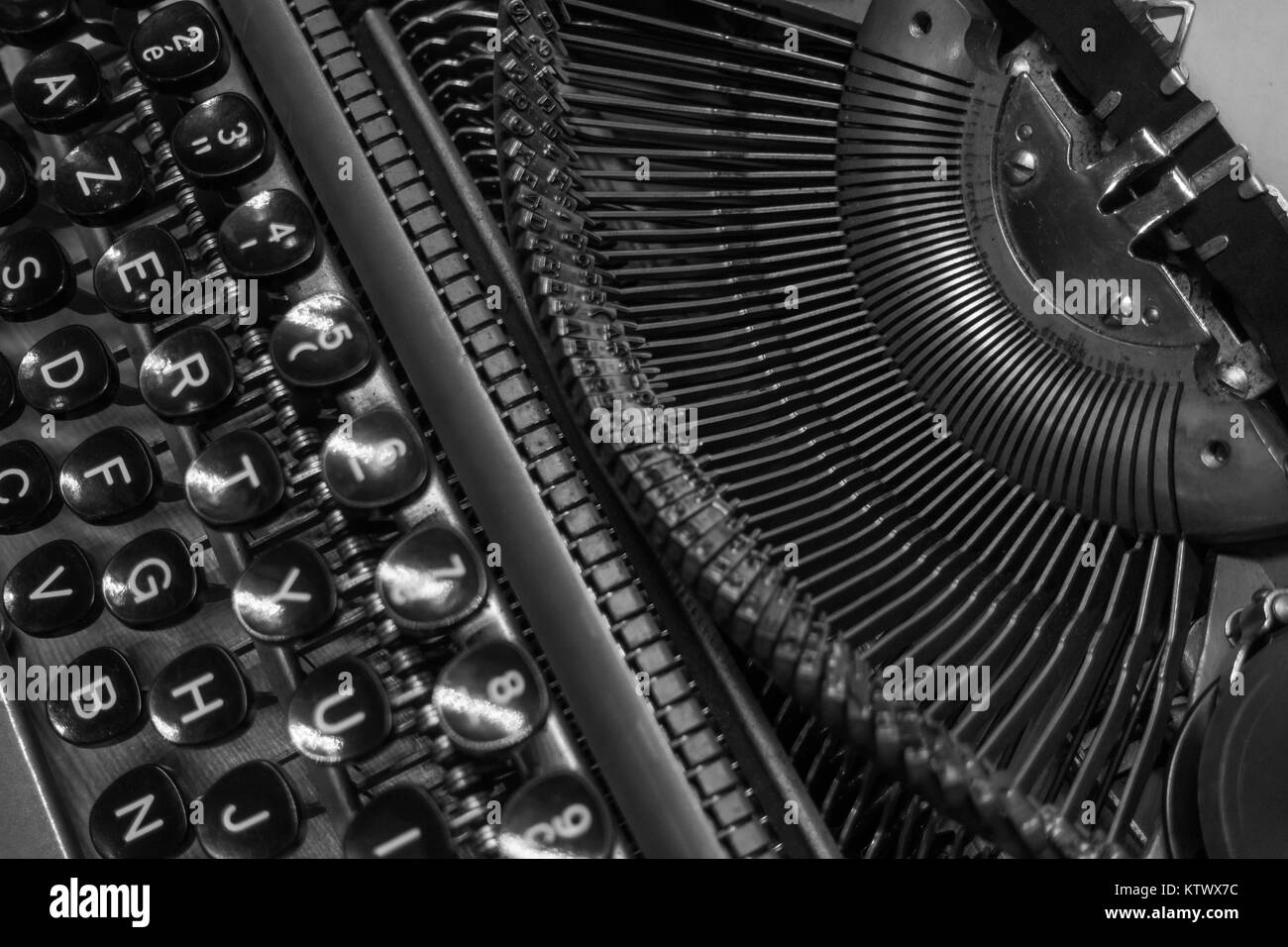 Vintage Typewriter Black and White Stock s & Alamy