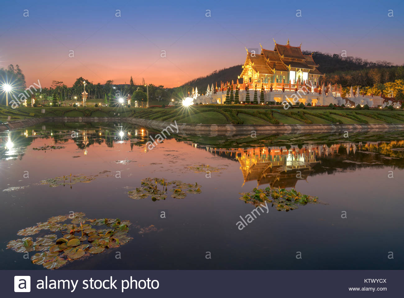 Chiang Mai, Thailand at Royal Flora Ratchaphruek Park. - Stock Image