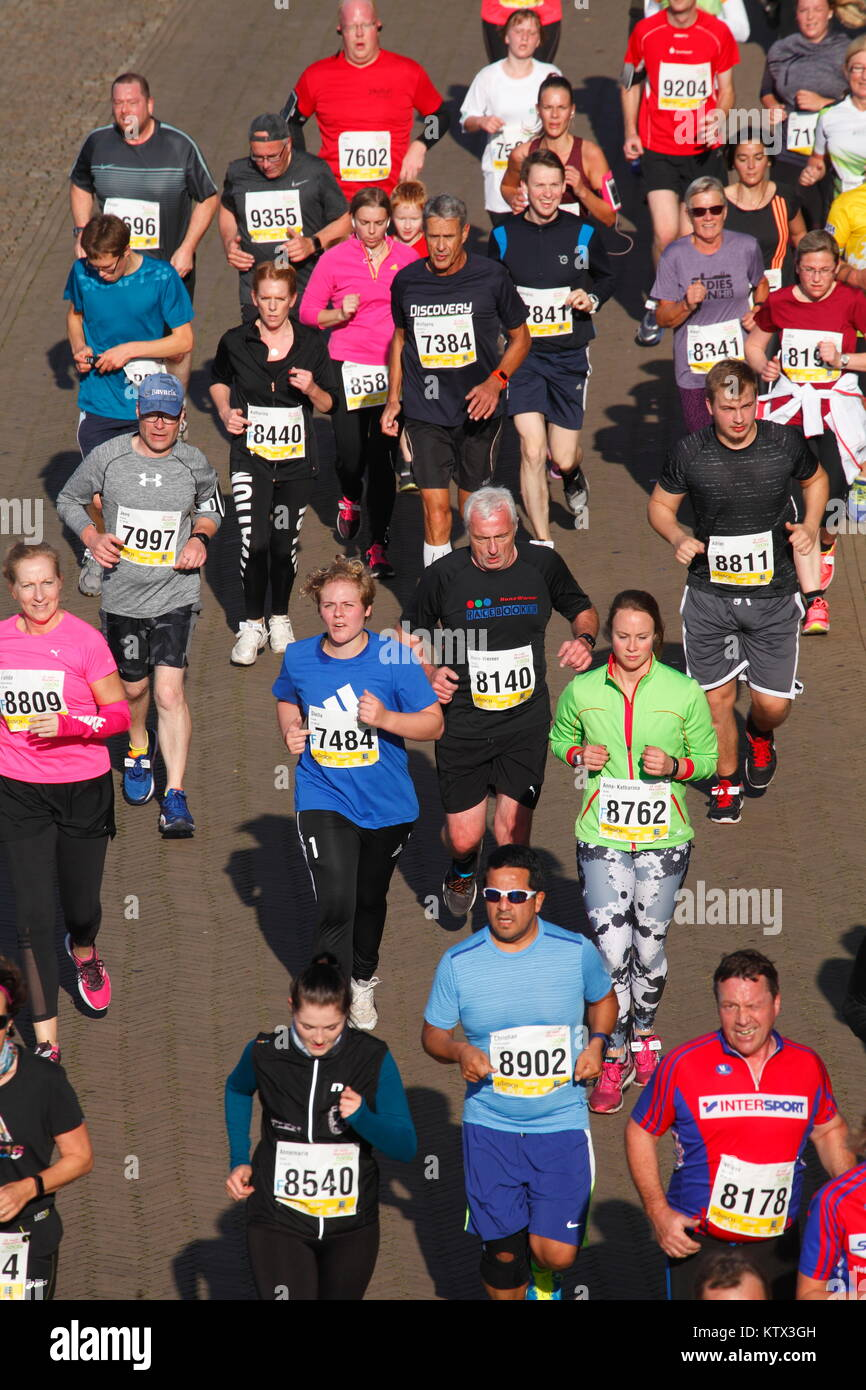 Runner at the Bremen-Marathon, Bremen, Germany, Europe - Stock Image