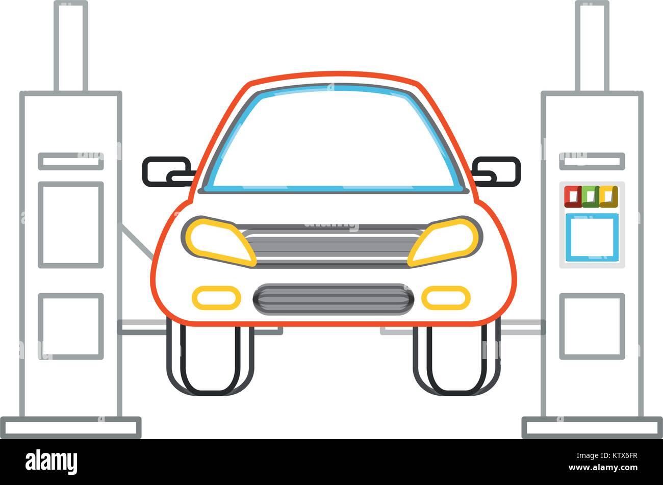 car lift machine icon Stock Vector Art & Illustration