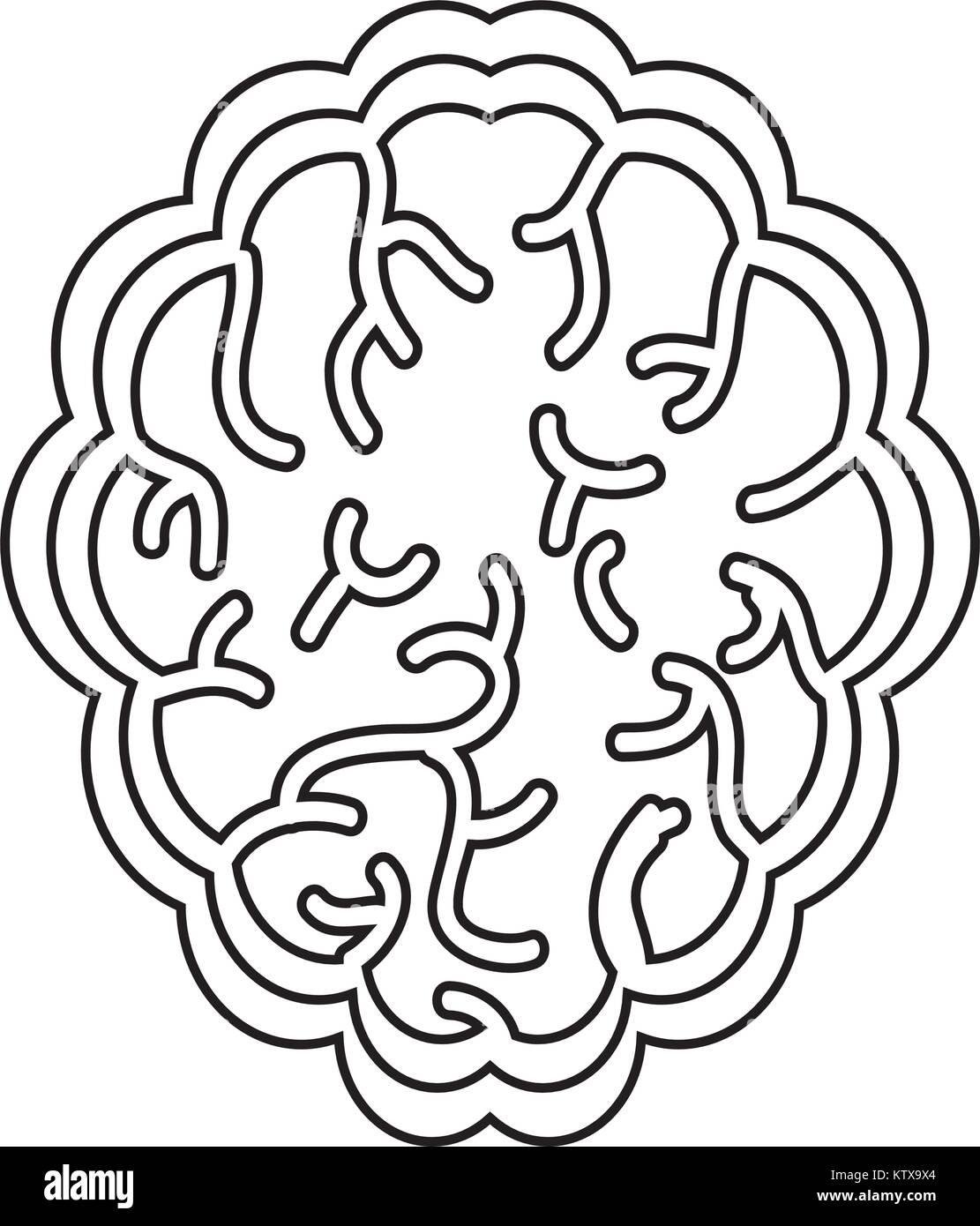 brain organ icon - Stock Image