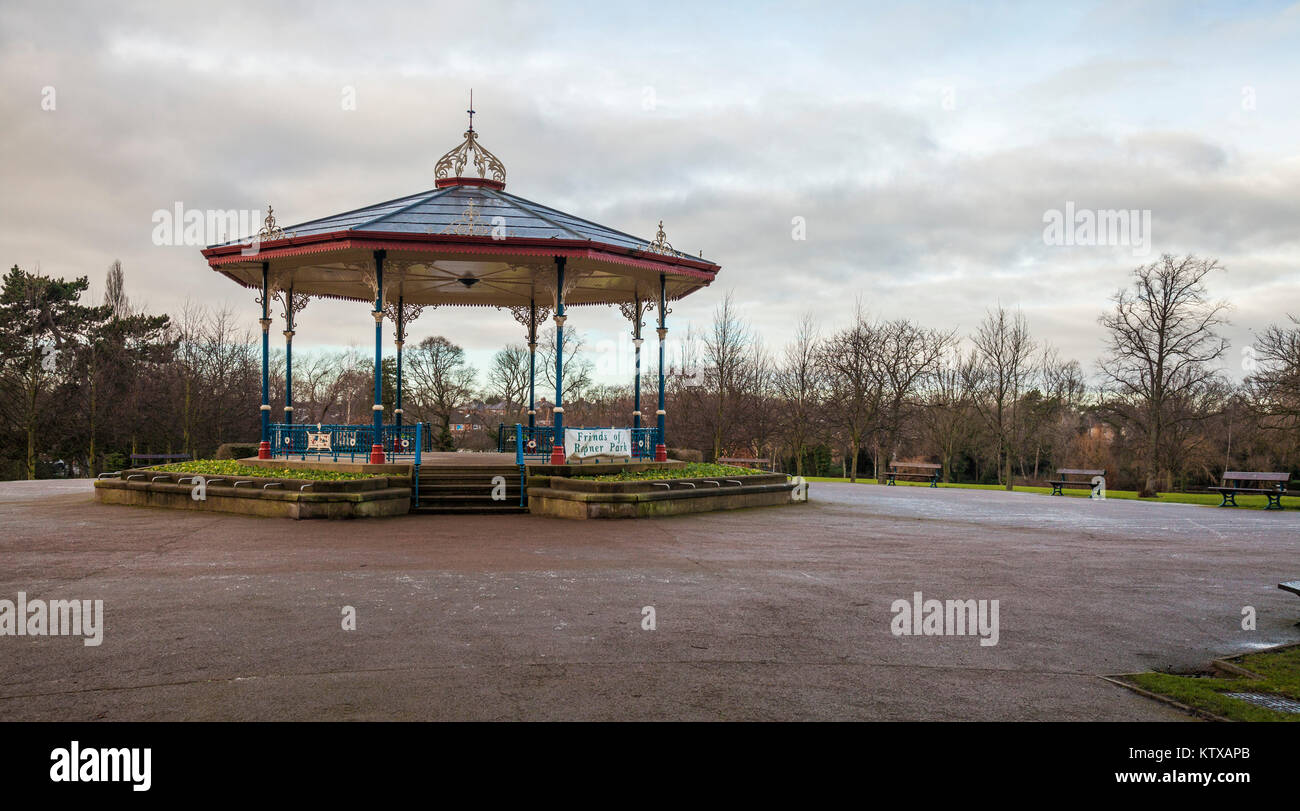 The bandstand in Ropner Park, Richmond Road, Stockton-on-Tees, United Kingdom Stock Photo