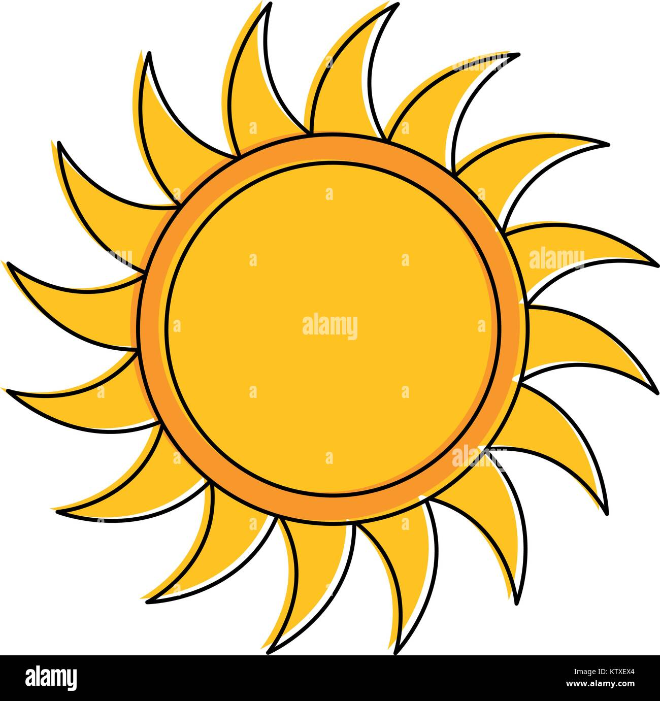 summer sun isolated icon - Stock Image