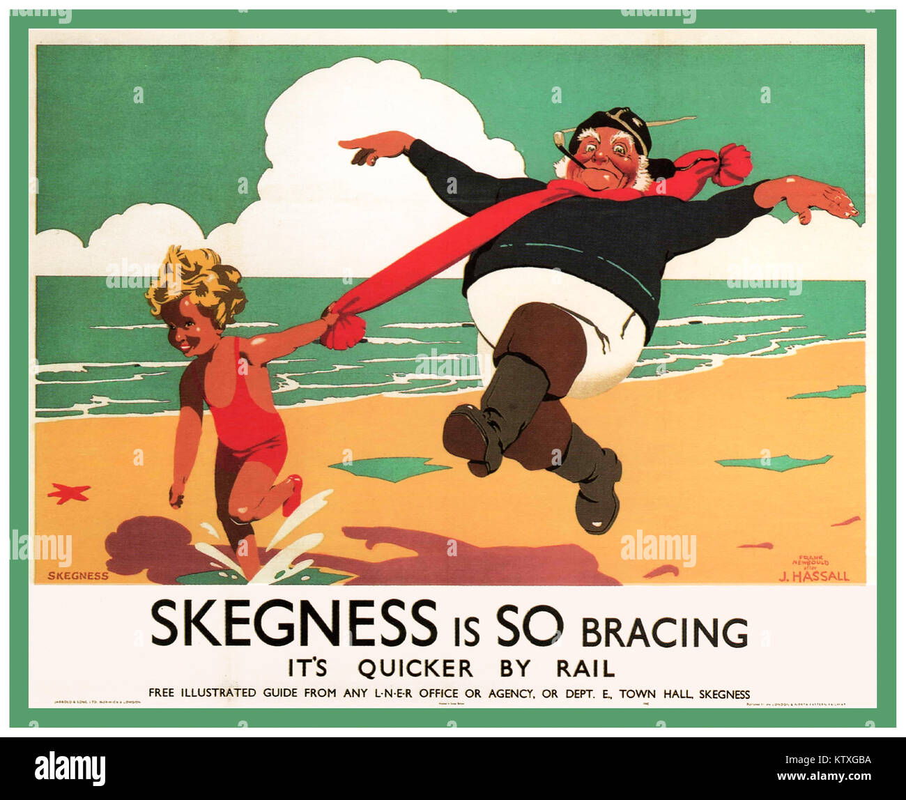 Vintage 1900's British Rail renowned famous travel poster produced for the London & North Eastern Railway - Stock Image