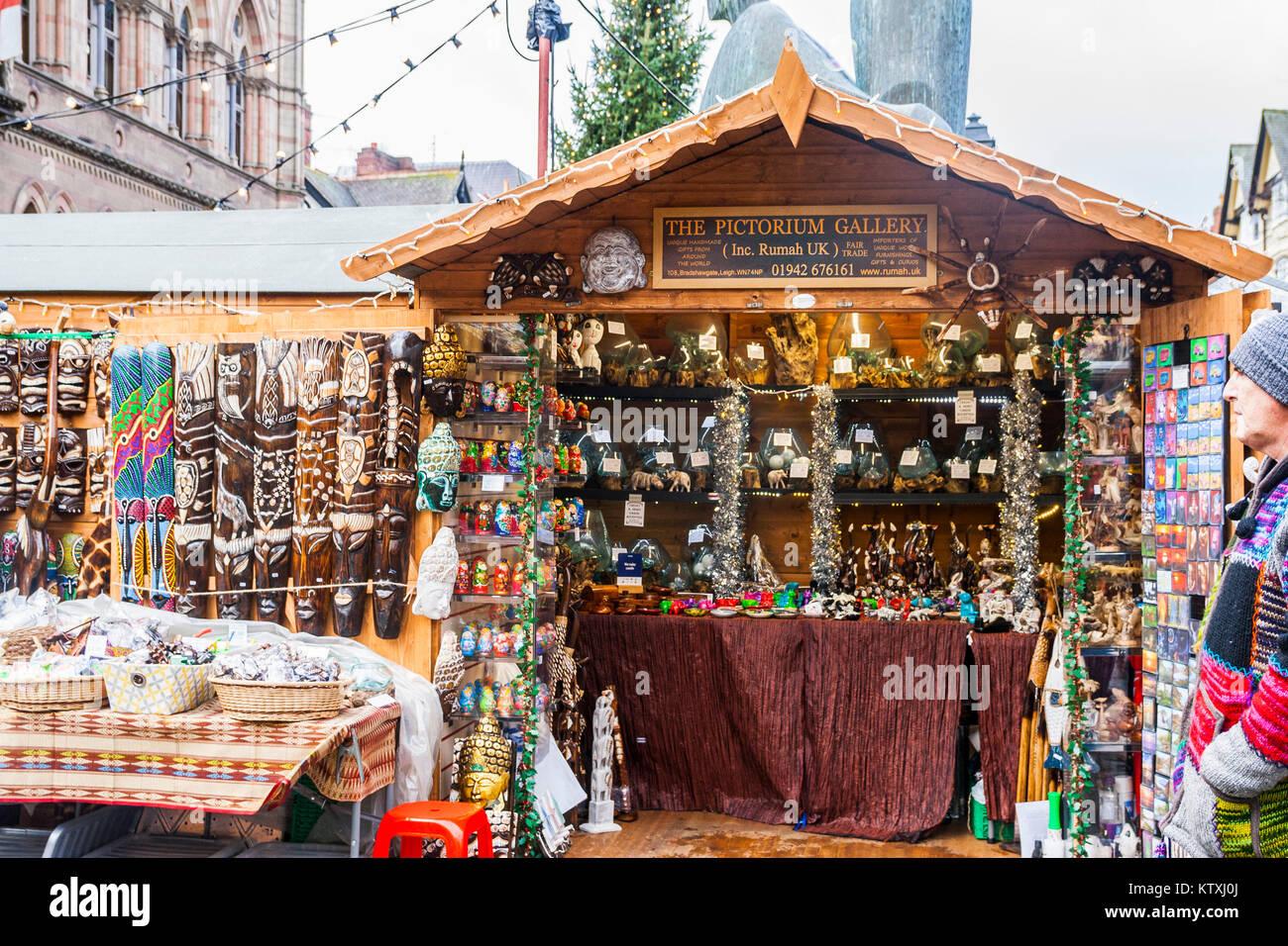 Chester christmas markets cheshire, Christmas Market, Stalls, Chester, Cheshire UK - Stock Image