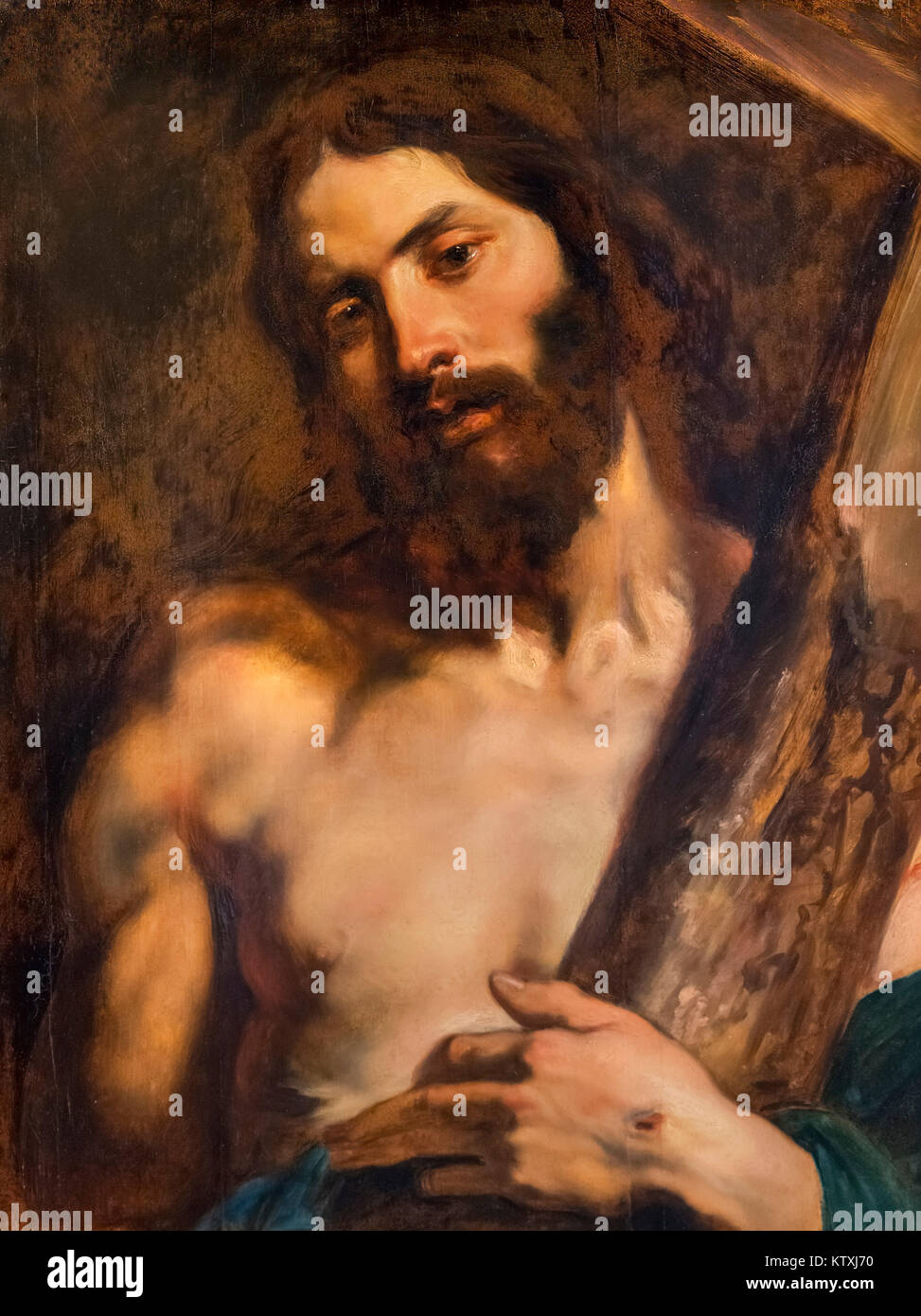 Jesus Christ Carrying the Cross by Sir Anthony van Dyck (1599-1641), oil on canvas, early 1600s - Stock Image
