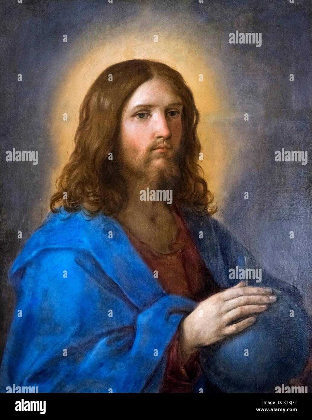 Cristo Salvatore (Christ the Saviour) by Guido Reni (1575-1642) - Stock Image