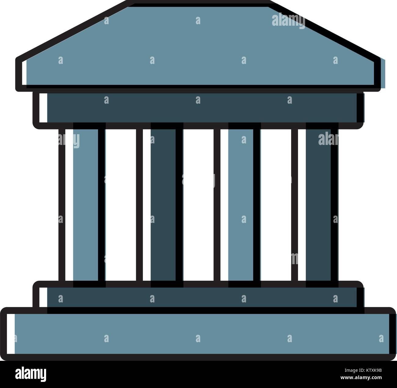 Greek building symbol - Stock Vector