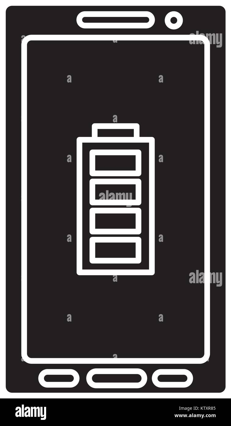Smartphone with full charge - Stock Vector