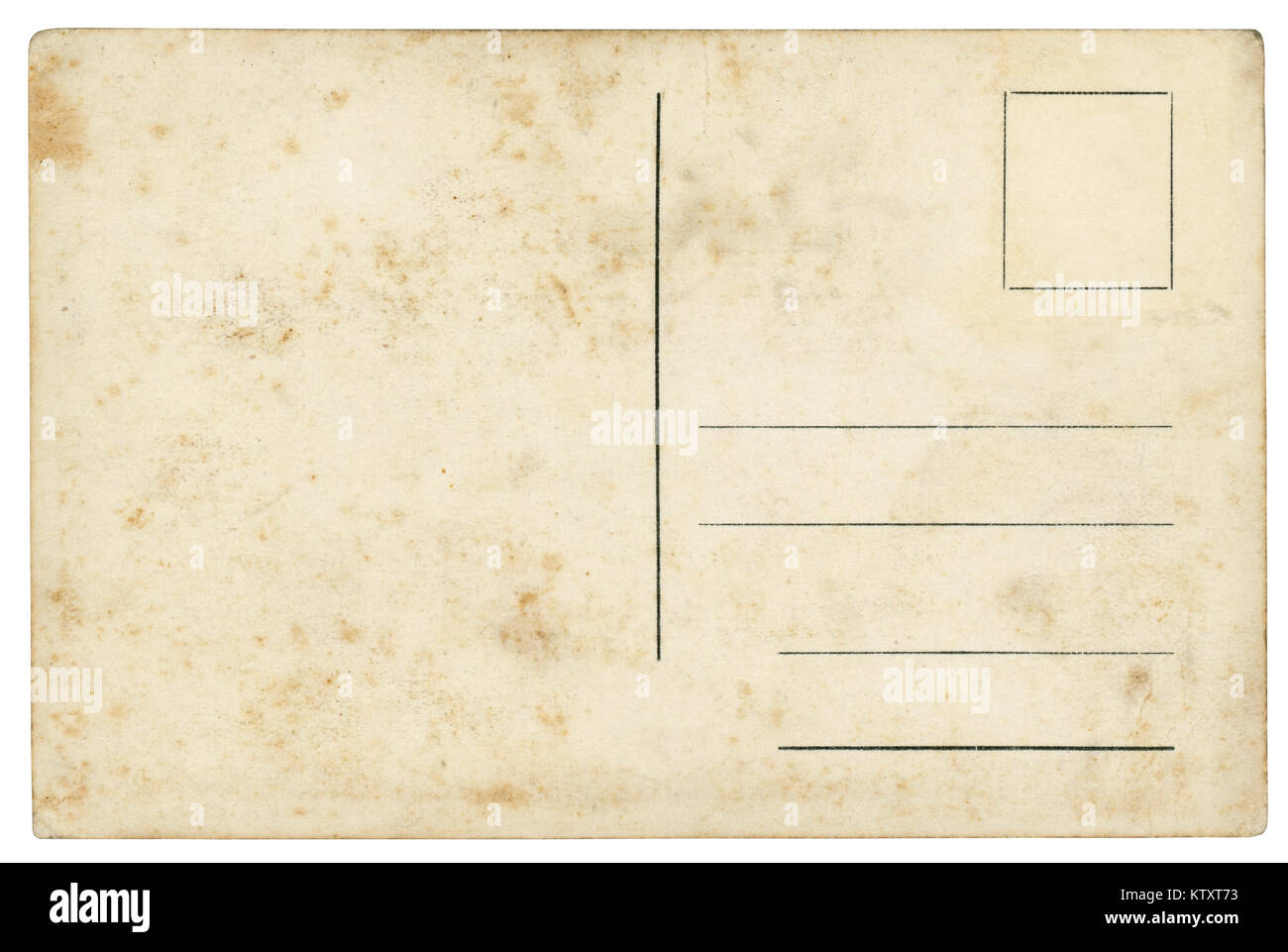 vintage postcard isolated clipping path included stock image
