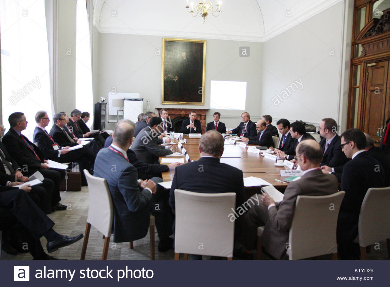 Colombian business roundtable event (8452652617) - Stock Image