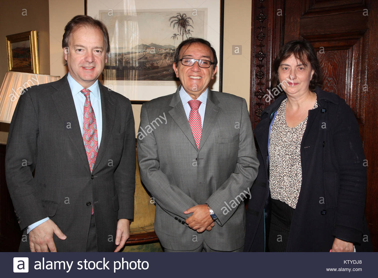 Meeting with Colombian Constitutional Court Judge and ABColombia (8695320601) - Stock Image