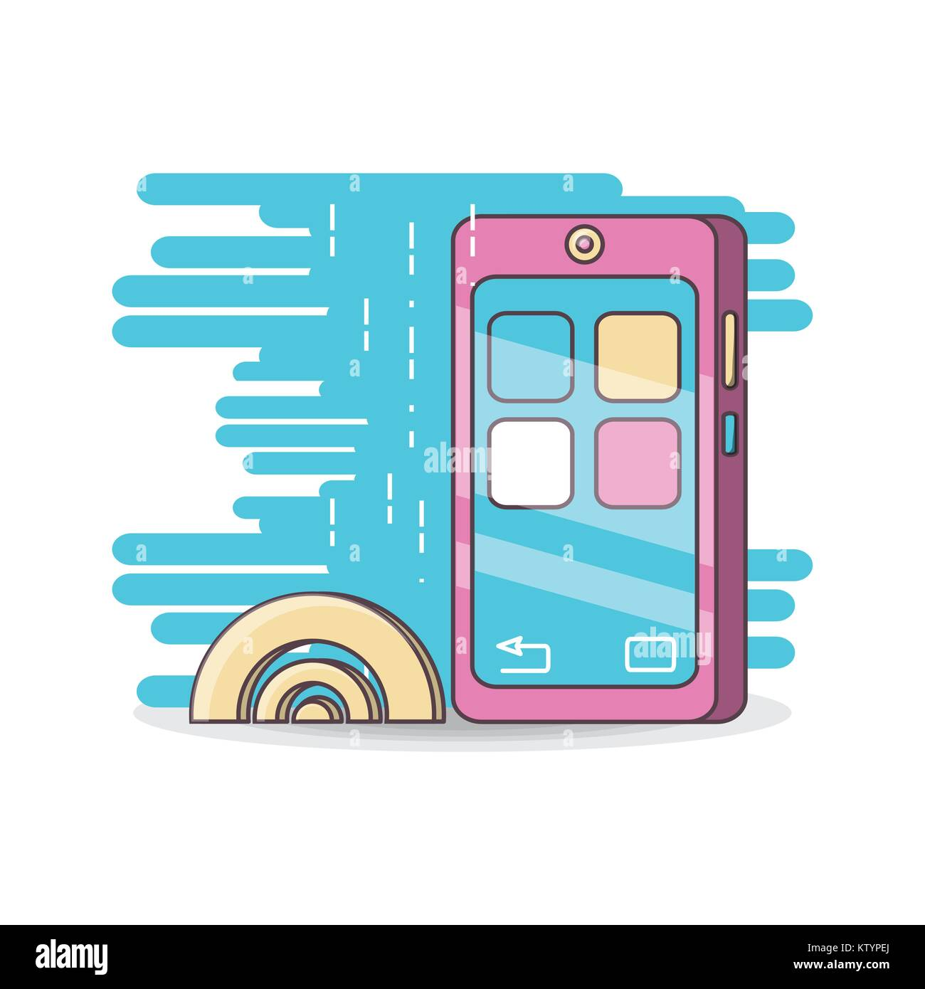 technology devices and multimedia gadget - Stock Image