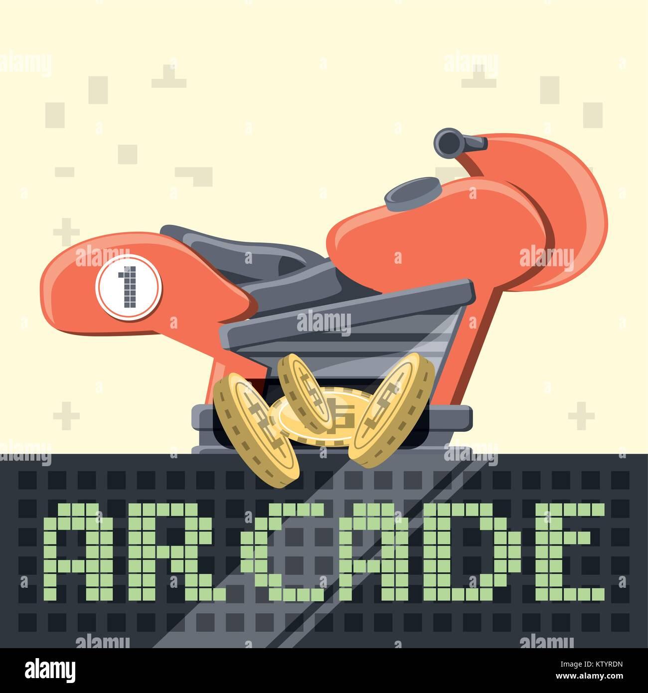 arcade video game design - Stock Vector