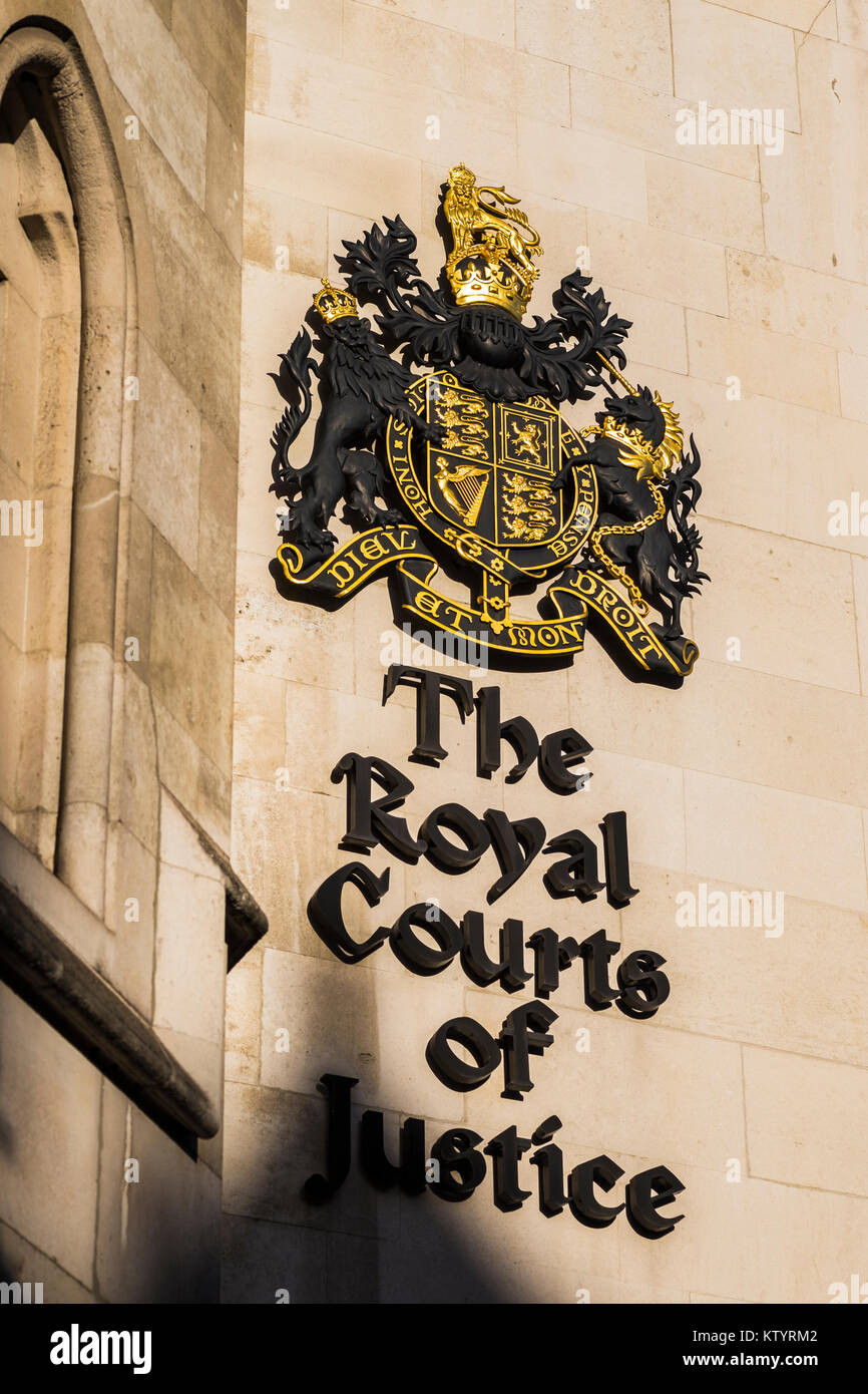 The Royal Courts of Justice, London, England, U.K. - Stock Image