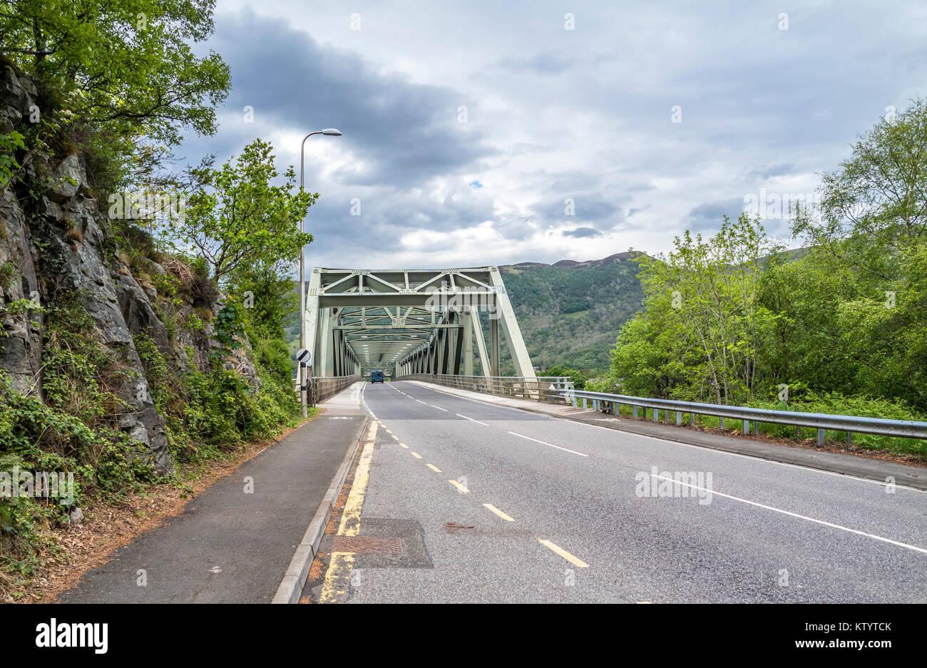 Ballachulish bridge in Lochaber, Scottish Highland - United Kingdom - Stock Image