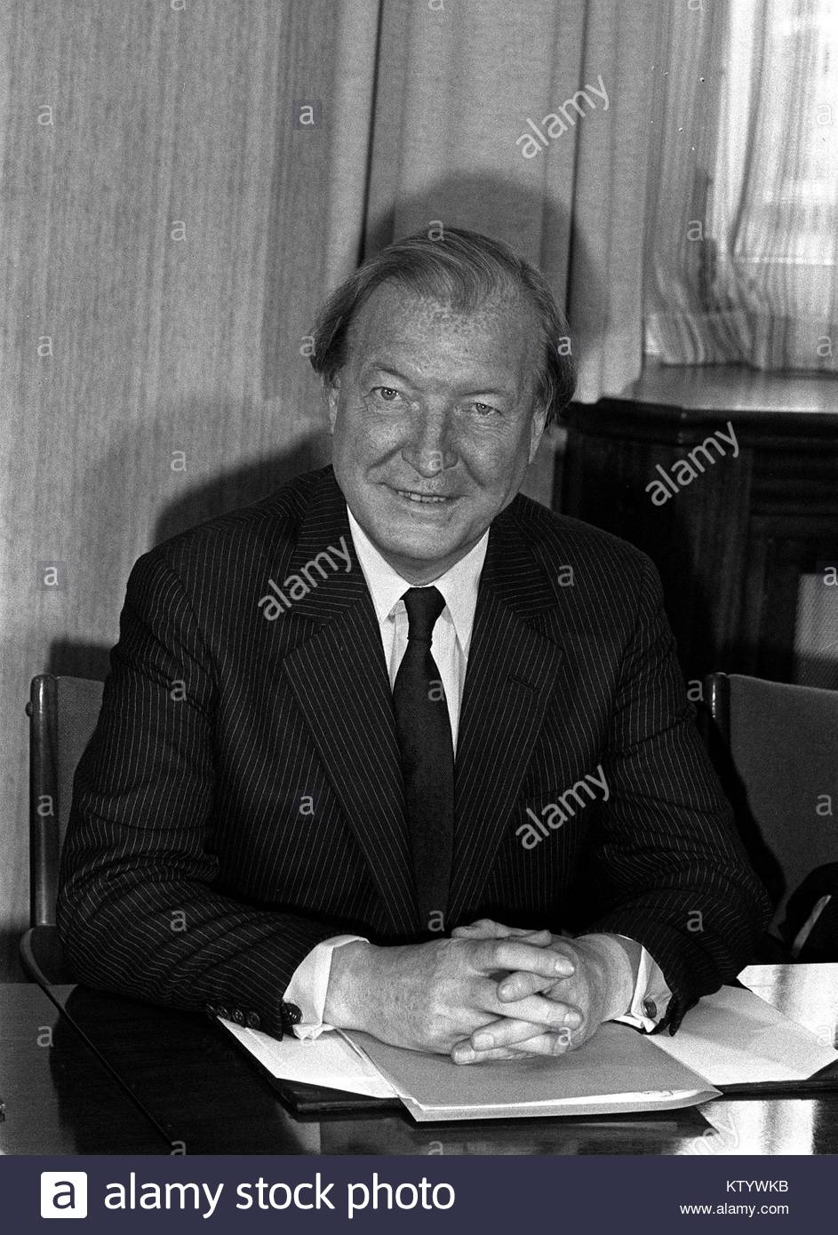 Embargoed to 0001 Friday December 29 File photo dated 17/08/82 of former Irish Taoiseach Charles Haughey, as newly Stock Photo