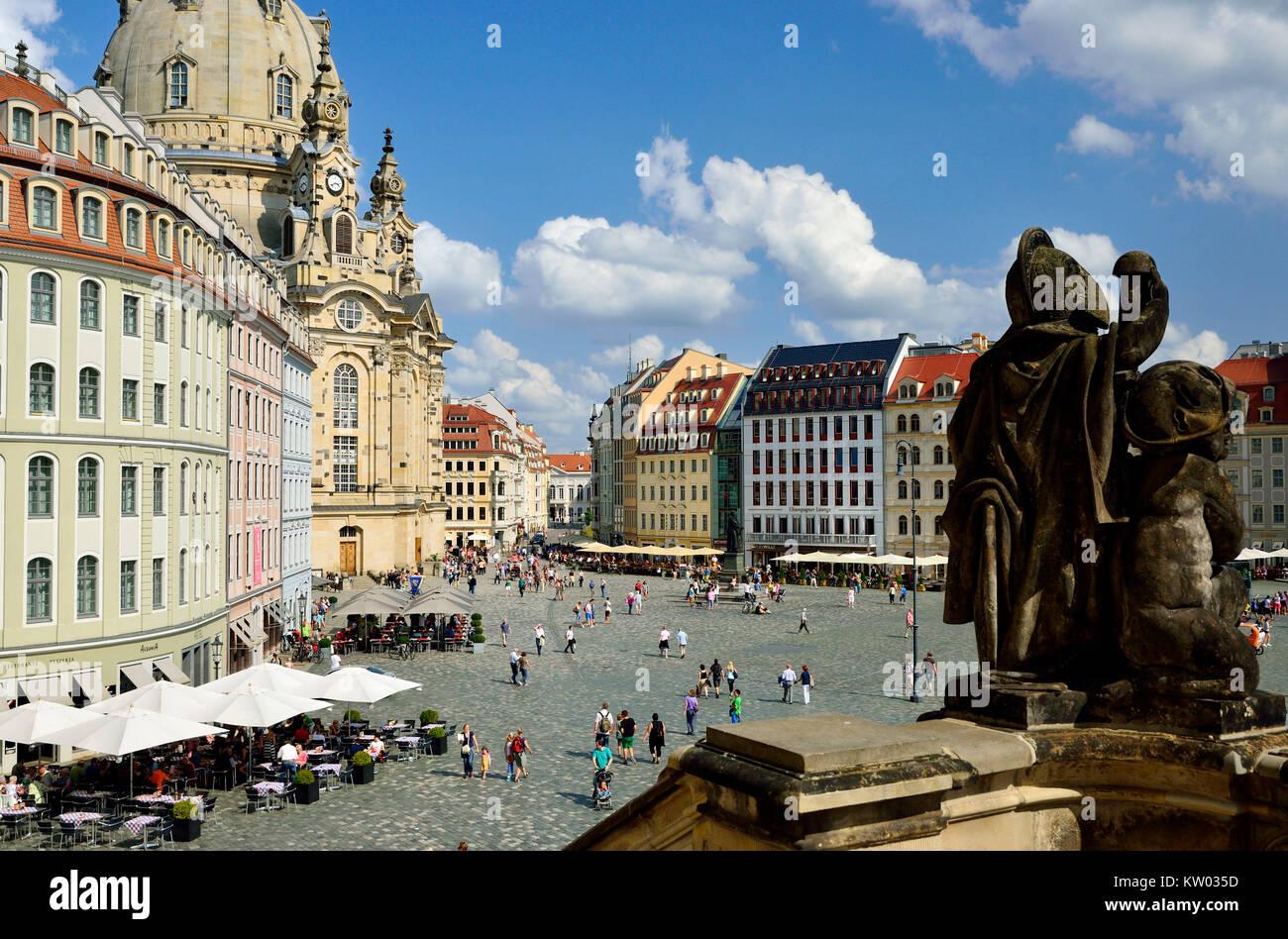 Dresden, Touristenthighlight new market, Touristenthighlight Neumarkt - Stock Image