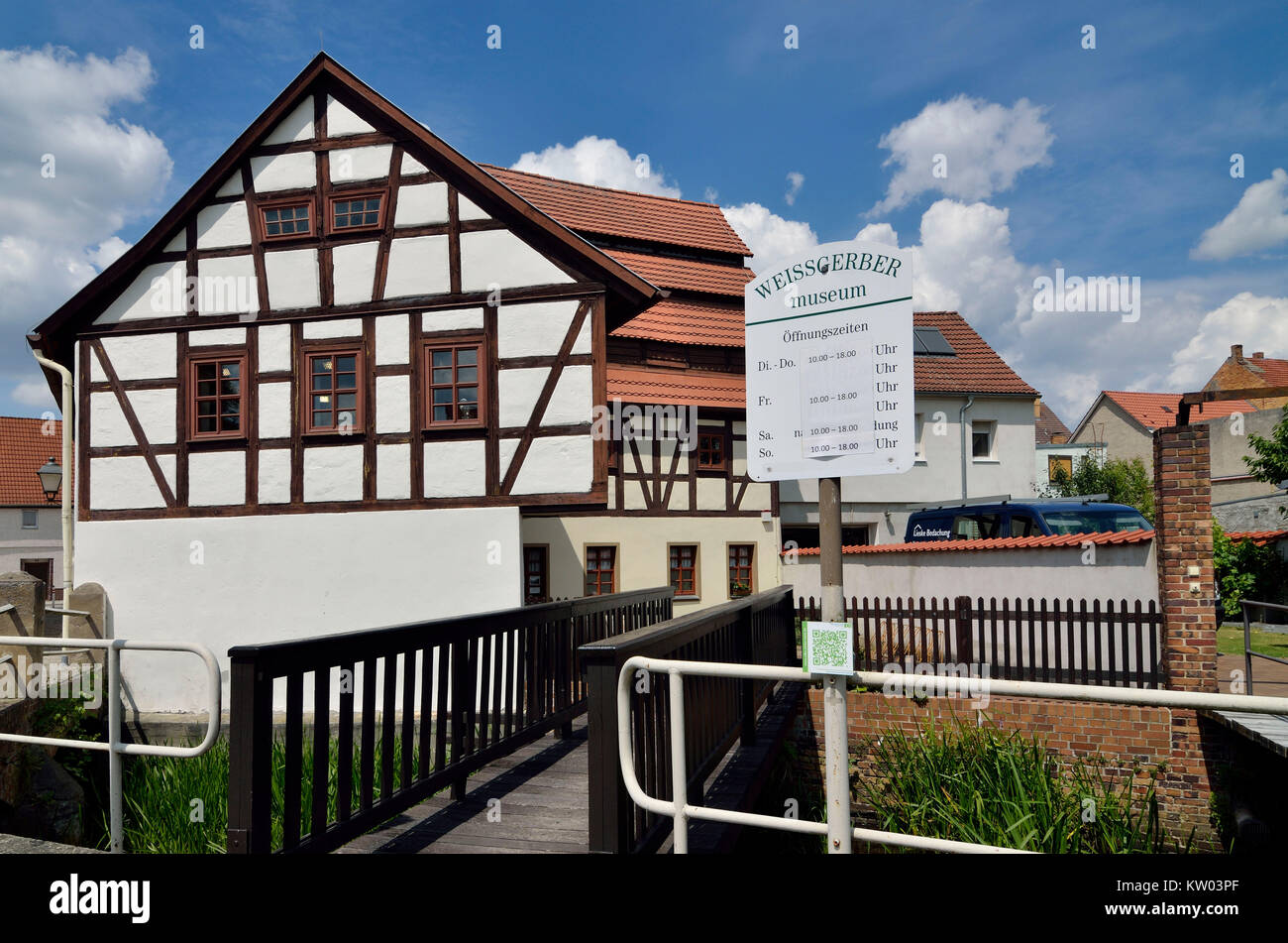 Doberlug grove Kirch, tanner's of fine leather museum in grove Kirch, Doberlug Kirchhain, Weißgerbermuseum - Stock Image