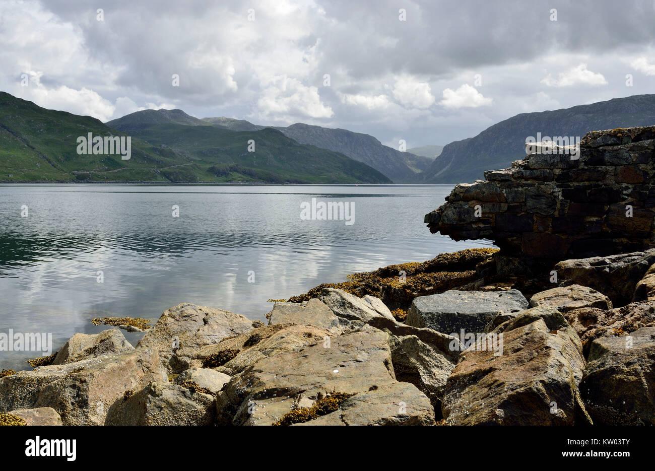 Scotland, highlands, hole Gleann Dubh , Schottland, Highlands, Loch Gleann Dubh Stock Photo