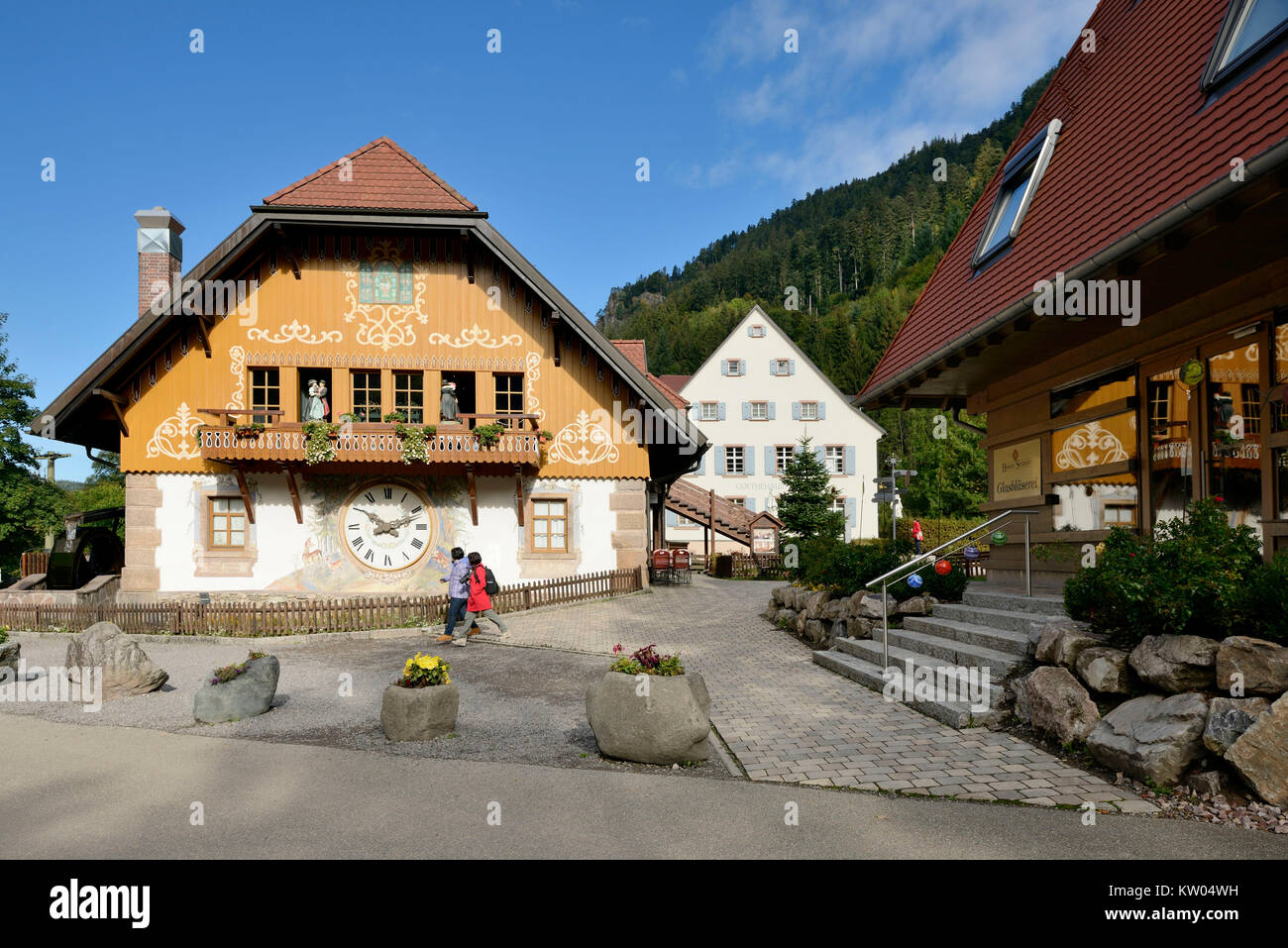 Court property of stars, cuckoo's nest, glass blowing and Goethe's house, Hofgut Sternen, Kuckucksnest, - Stock Image