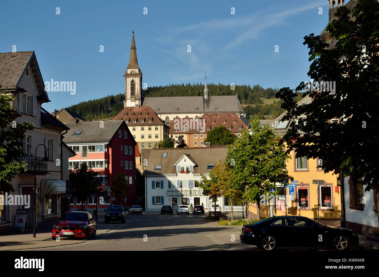 Titisee Neustadt, Baden Wurttemberg, Black Forest, health resort, church, cathedral, Catholic, , Baden Württemberg, - Stock Image