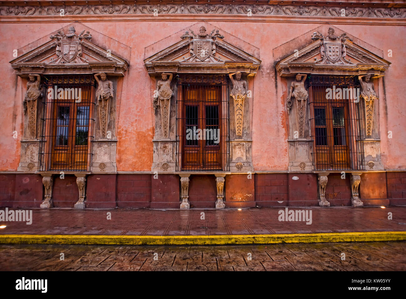 Casa de Montejo, Plaza Mayor, Merida Stock Photo