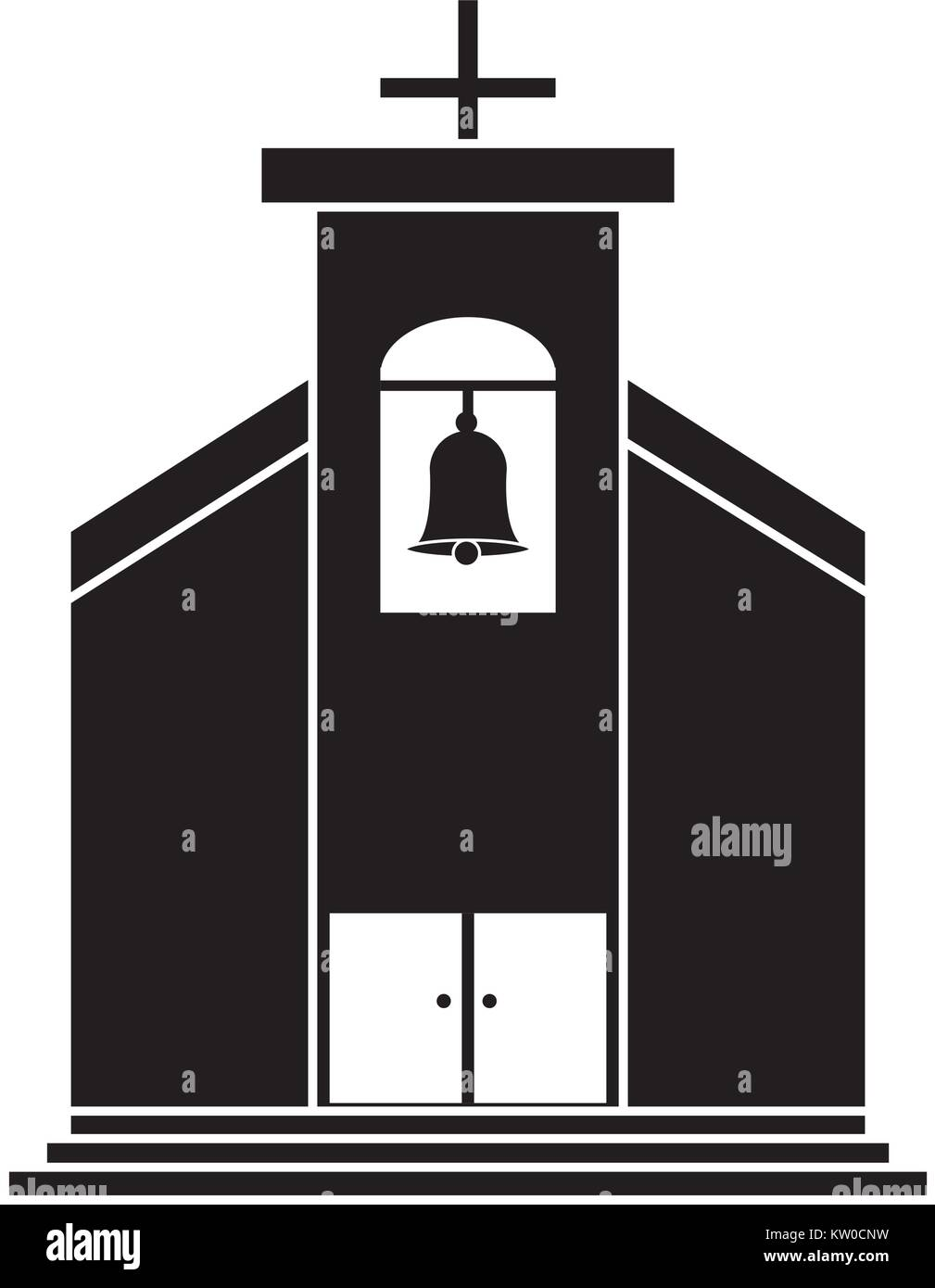 church building isolated icon - Stock Vector