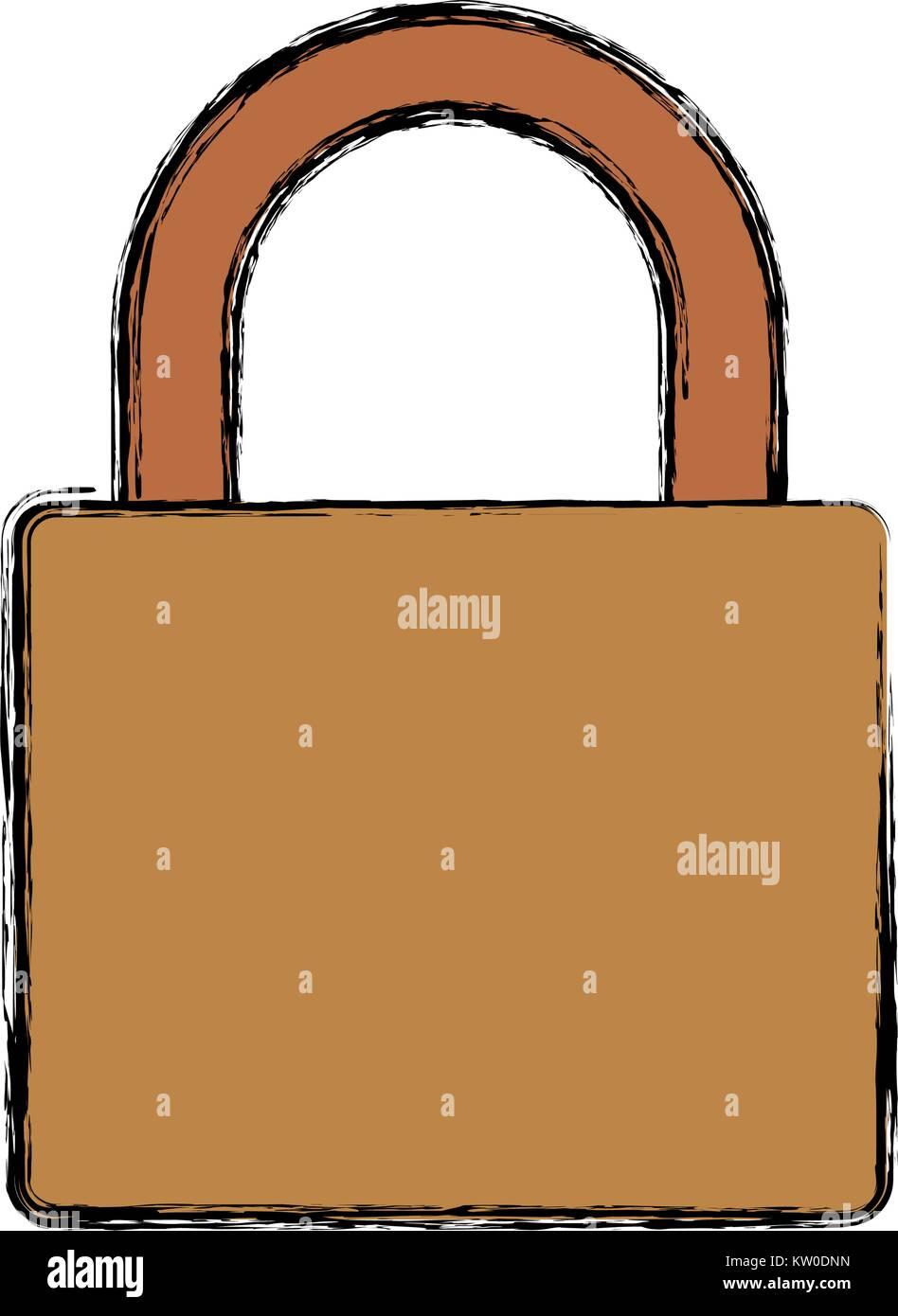 locked padlock icon - Stock Image