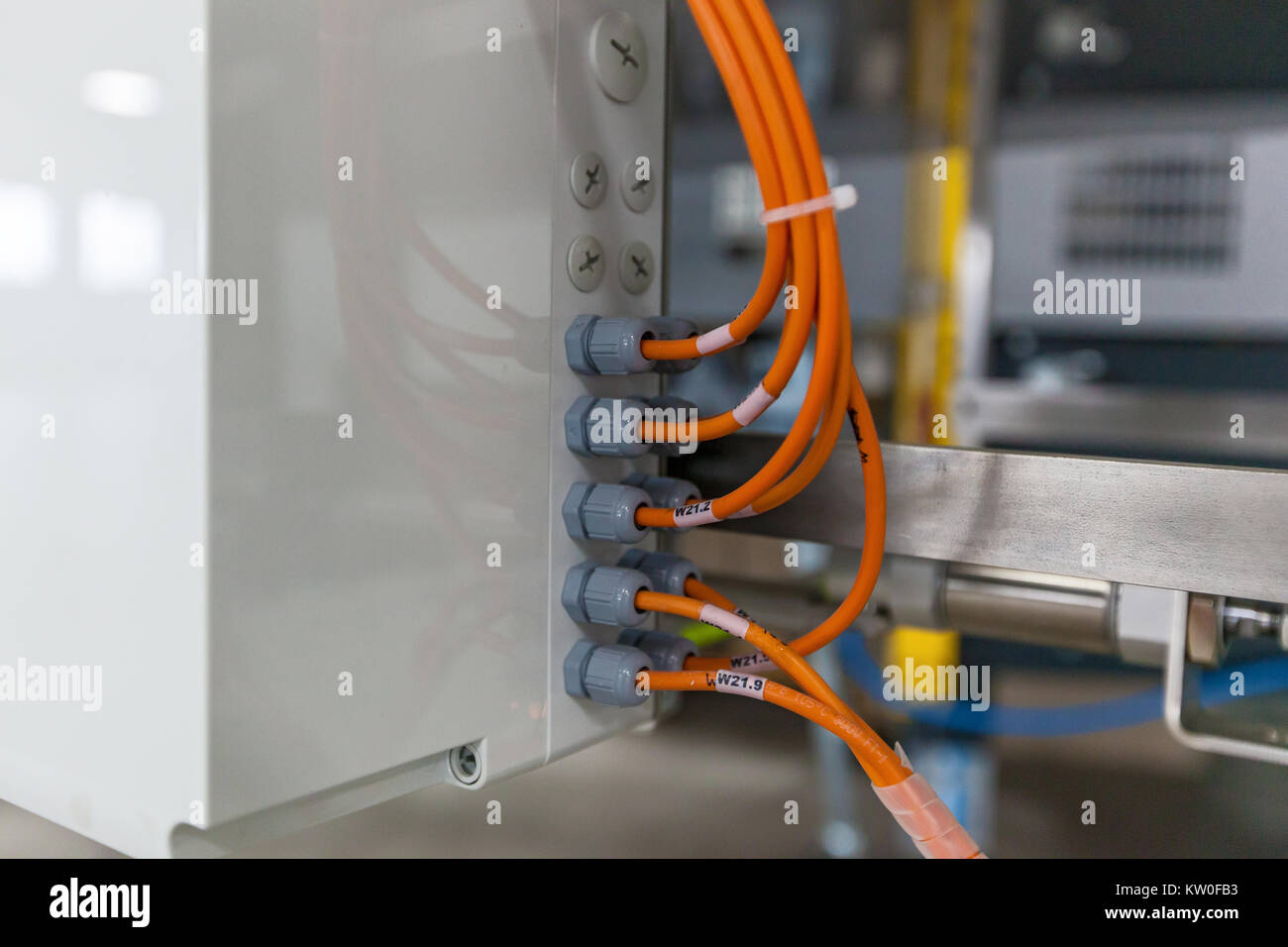 Electrical Junction Stock Photos Images New Construction Electric Wiring Harry Electrician Box With Cable Grand Connection Image