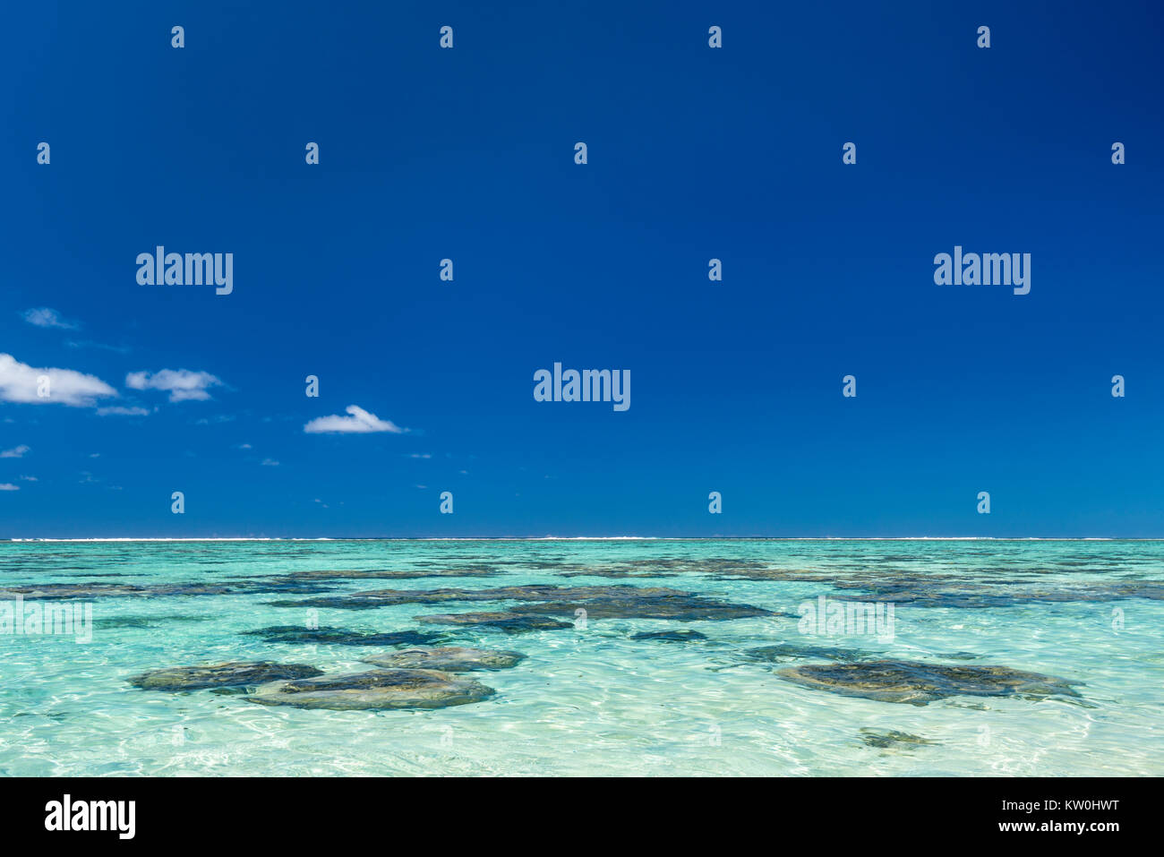 Blue laggon, Cook Islands - Stock Image