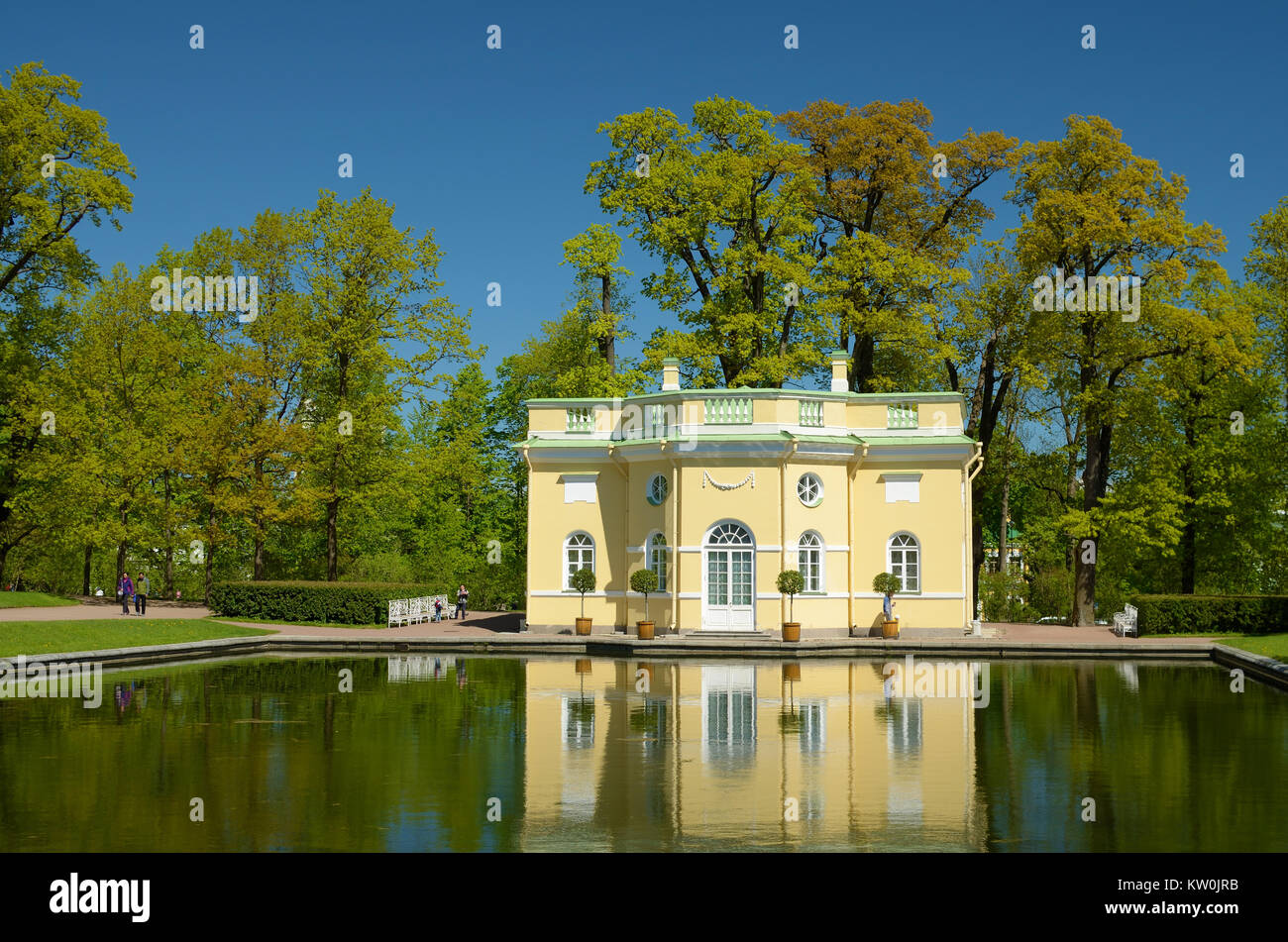 04.06.2017.Russia.Pushkin.Catherine Park.The picture shows a bath designed for the aristocrats. - Stock Image