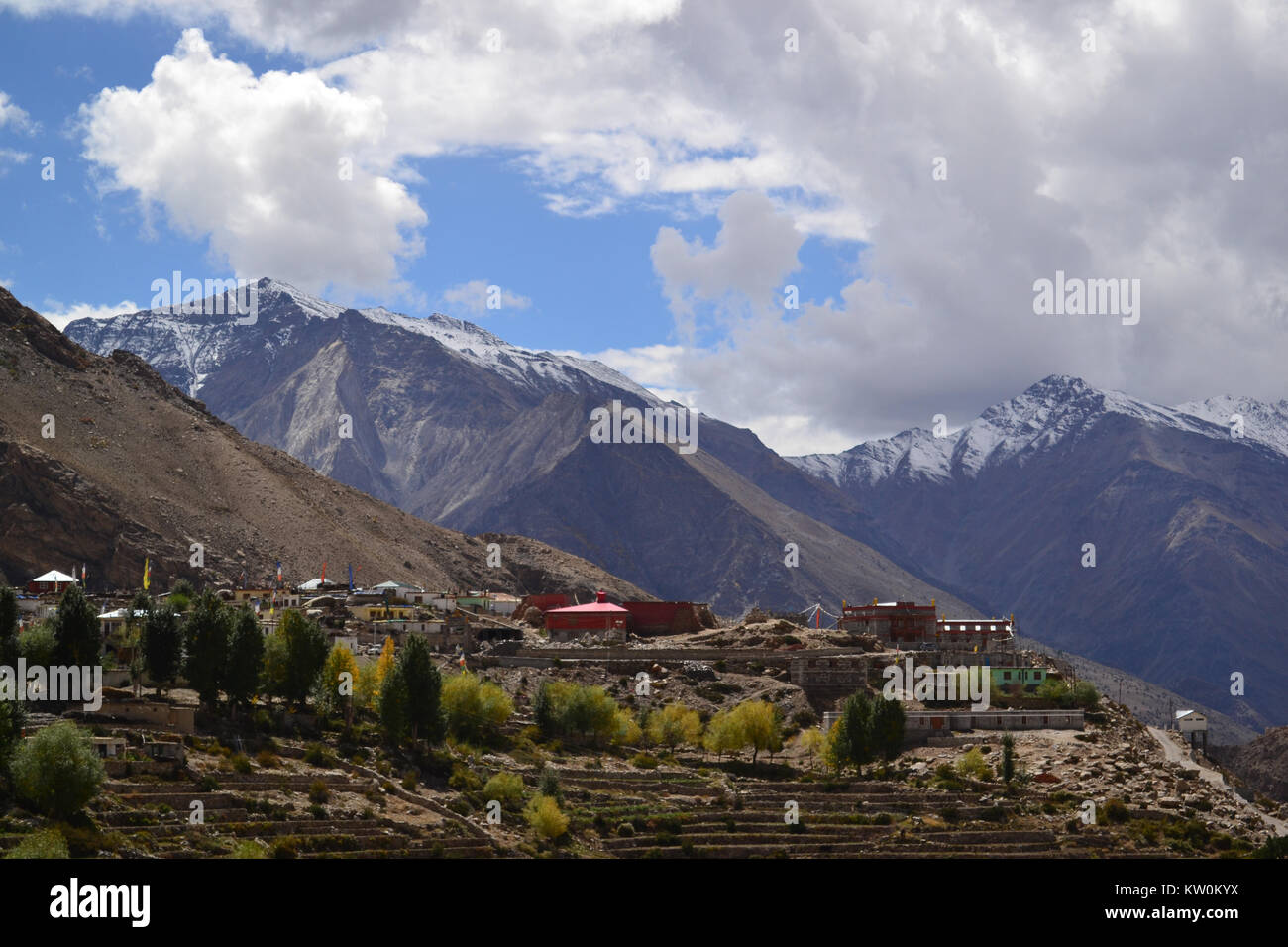 A view of the mountain village of Nako. Himachal Pradesh - Stock Image