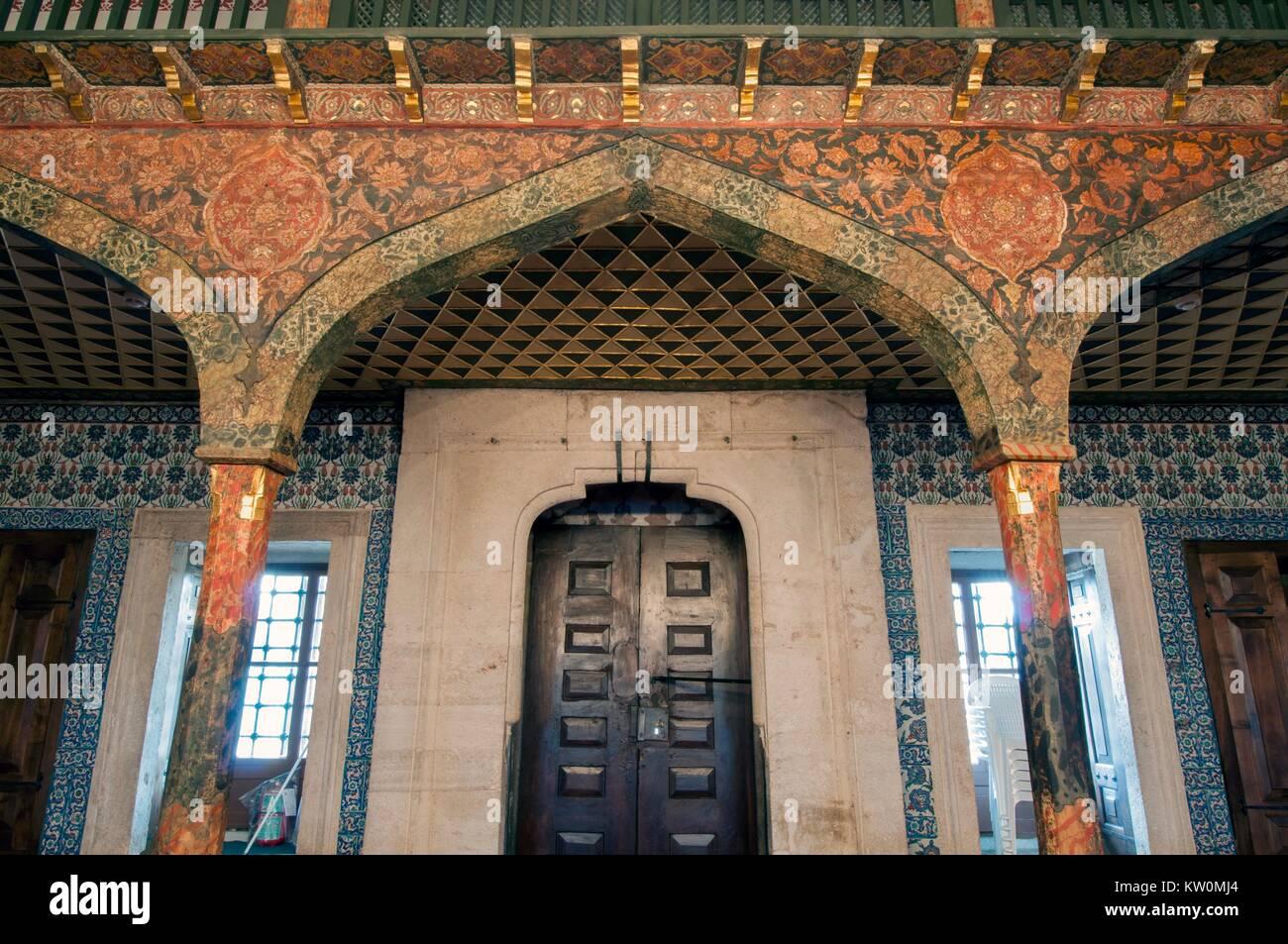 JANUARY 31,2010.STANBUL.The Takkeci Ibrahim Cavus Mosque,Topkapi. - Stock Image