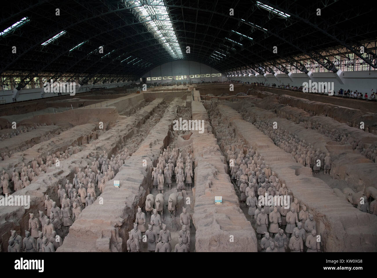 The Qin Tomb Terracotta Warriors and Horses, Xi'an, China - Stock Image
