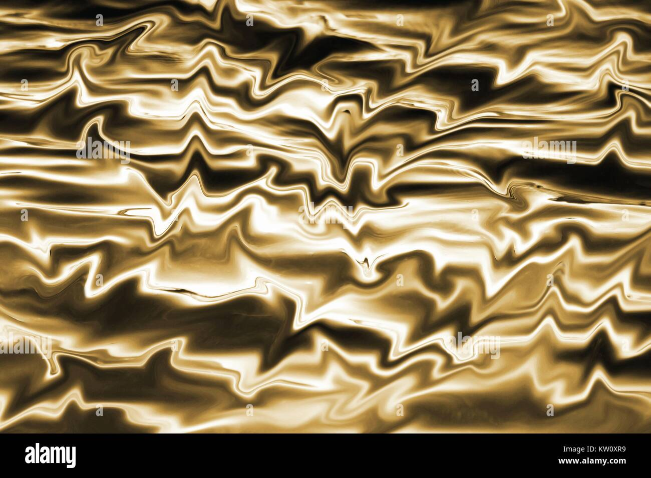 Melted Gold - abstract background Stock Photo