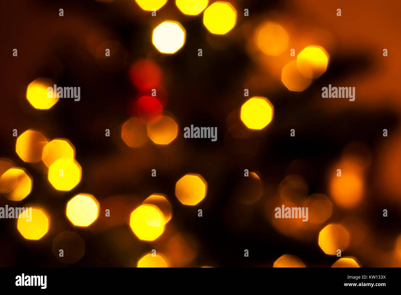 Colorful bokeh. Creative image of bright lights. Blurred background. - Stock Image
