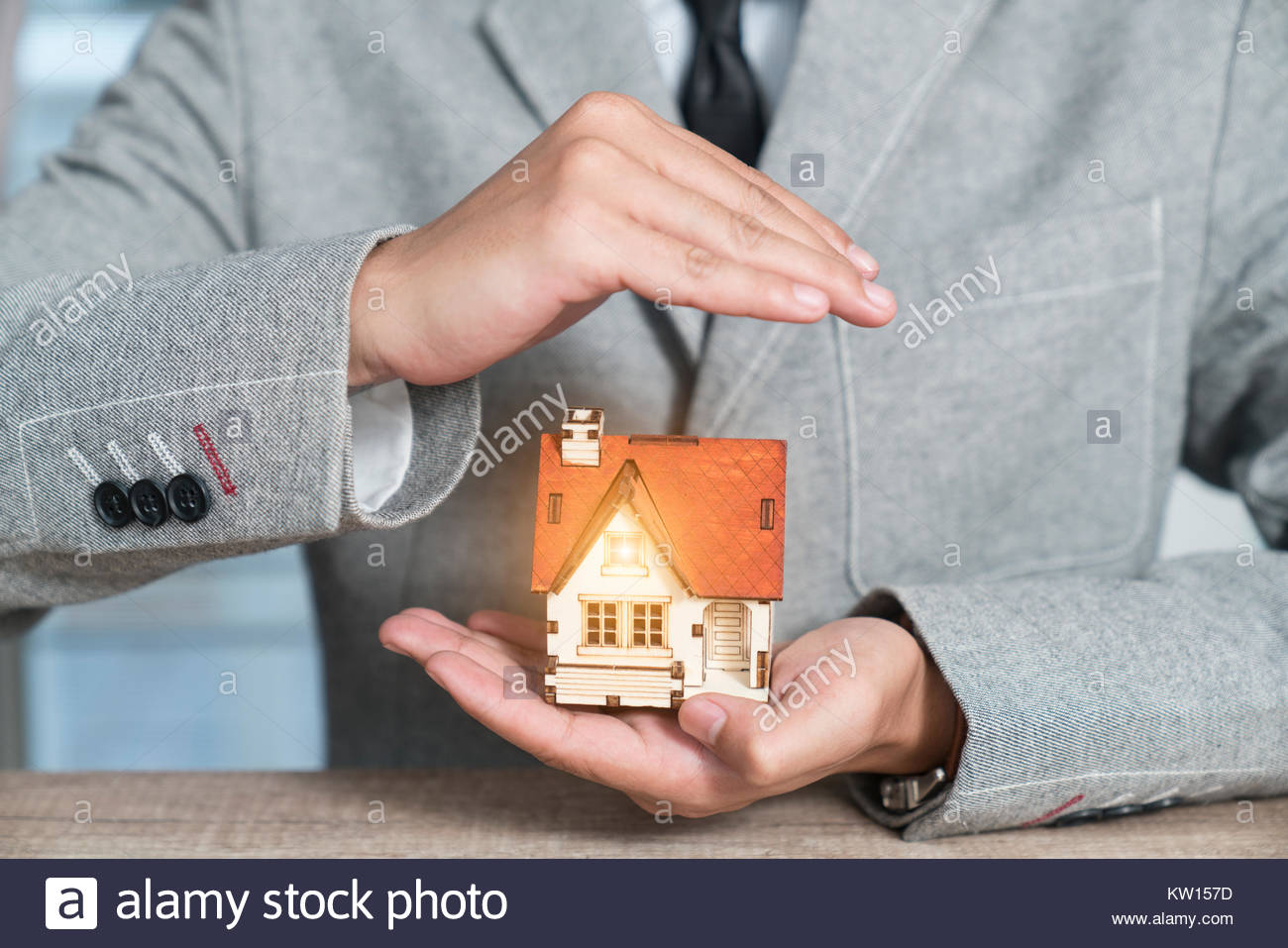 Home protection Stock Photo