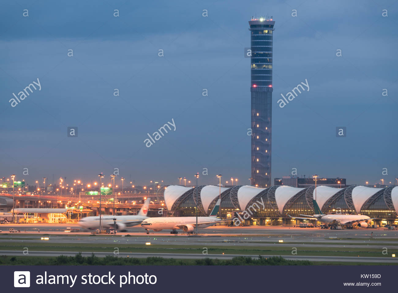On 22 October 2017 Suvarnabhumi Airport two international airports serving Bangkok, Thailand - Stock Image